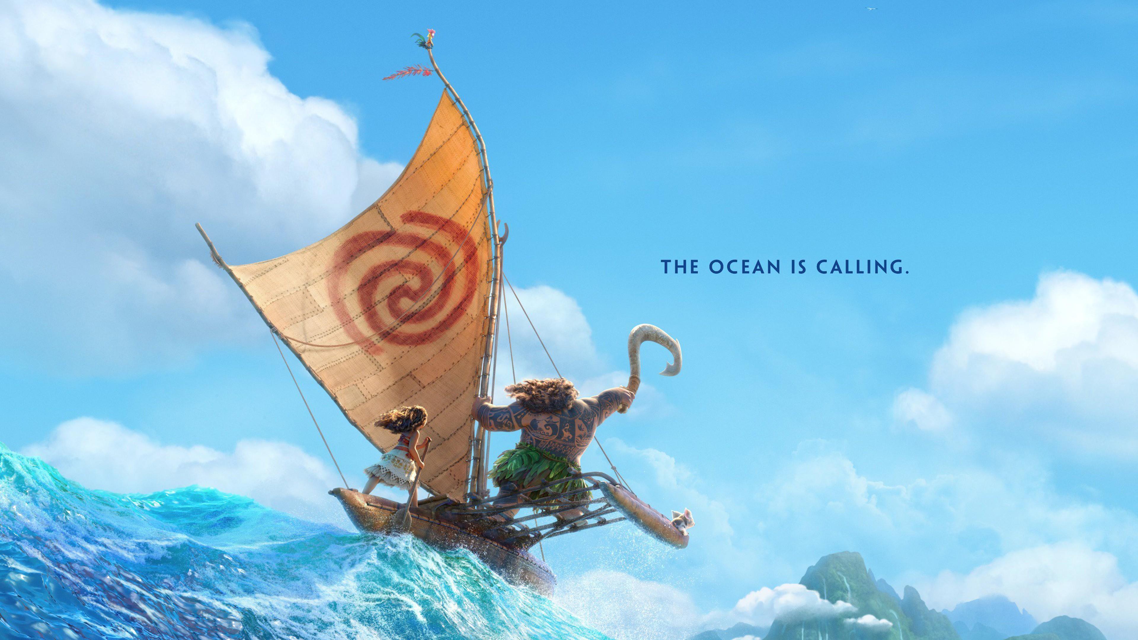 Wallpaper Ship Drowning Hd Creative Graphics 8497: Wallpaper Moana, Maui, Ocean, Best Animation Movies Of