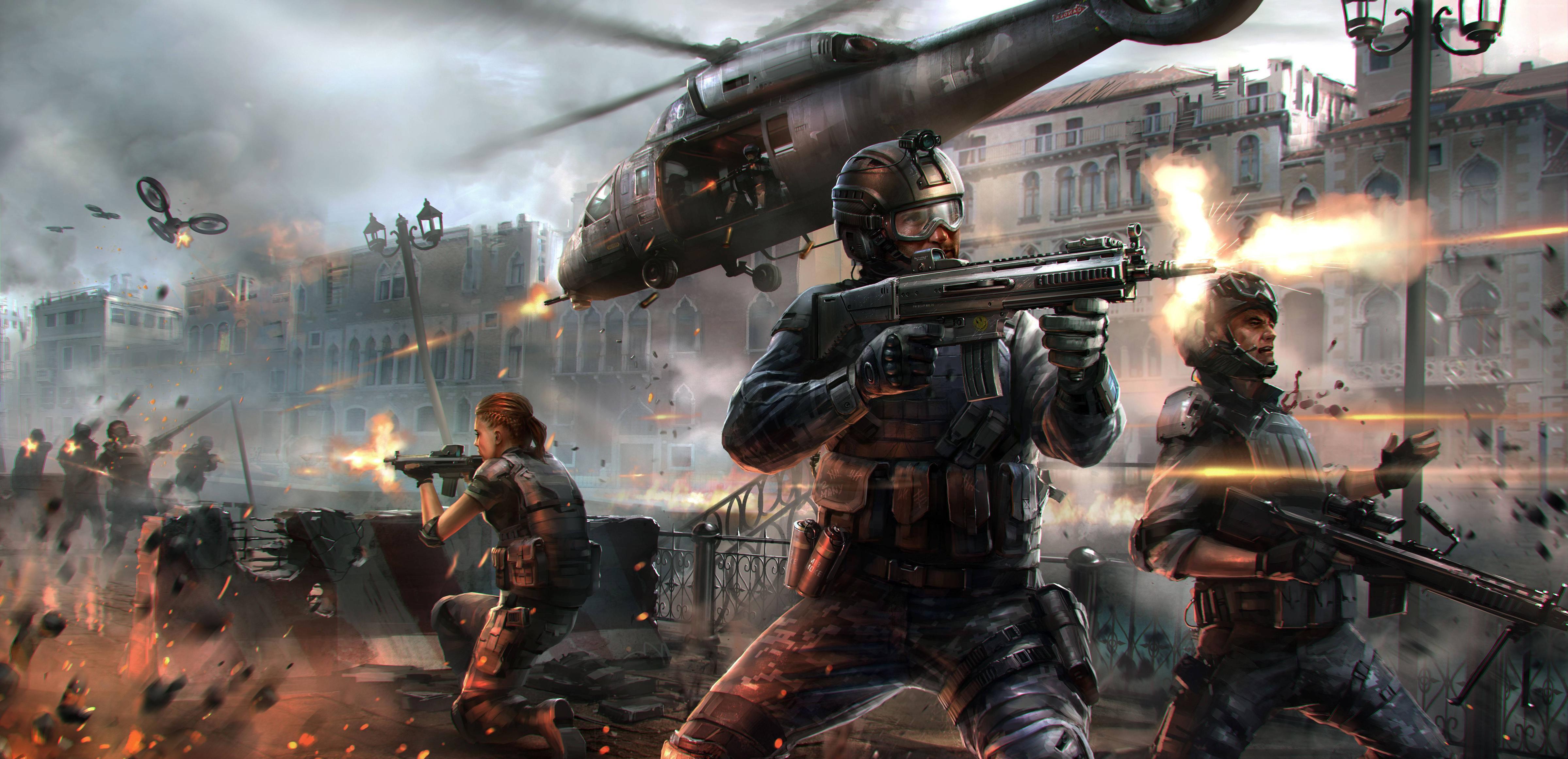 Wallpaper modern combat 5 blackout game mmo shooter mmofps battle soldier weapon gun