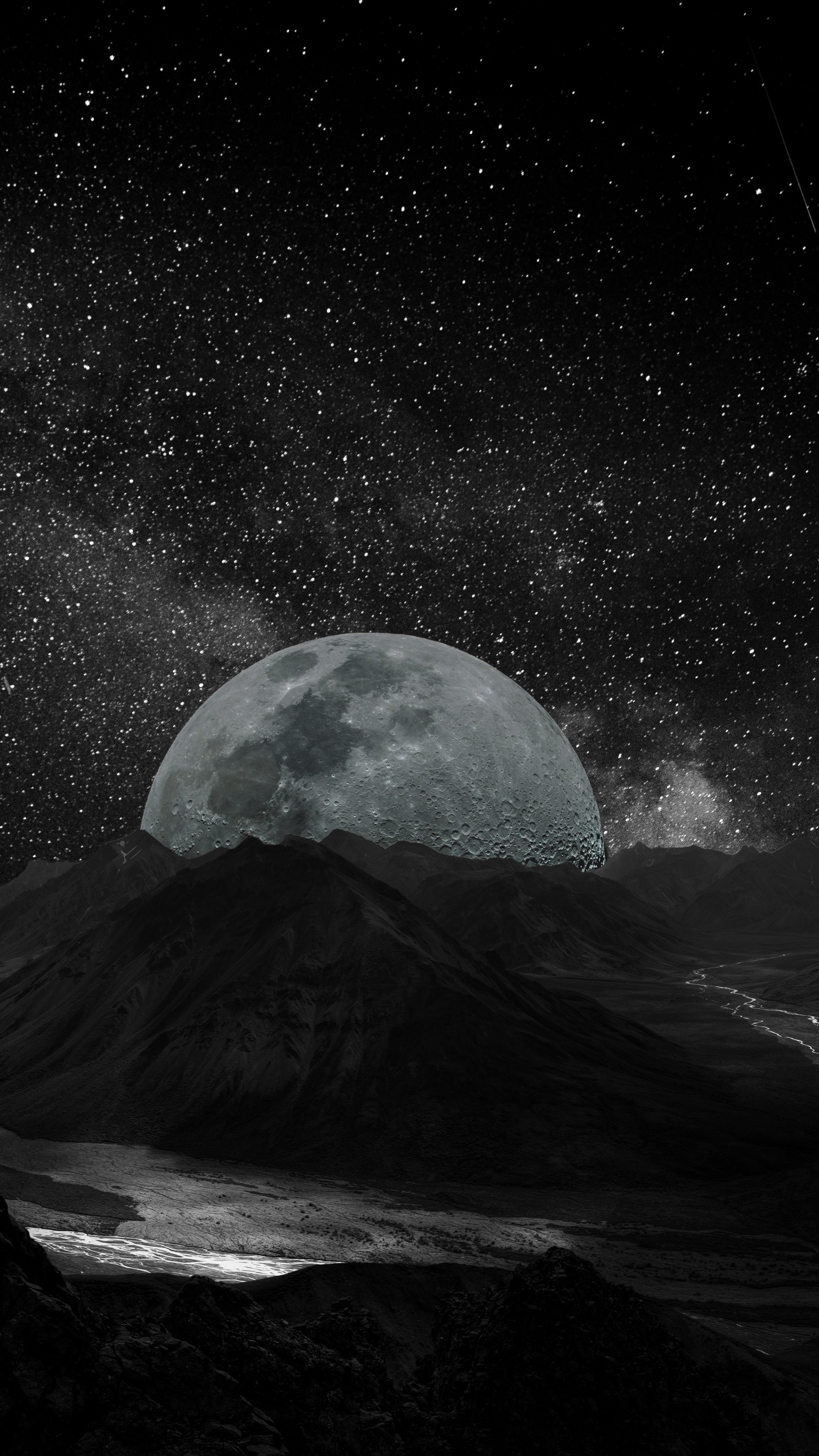 Moon To Moon Luxury Bohemian Interiors Martyn Lawrence: Wallpaper Moon, Planet, Space, Milky Way, 5k, Space #17041