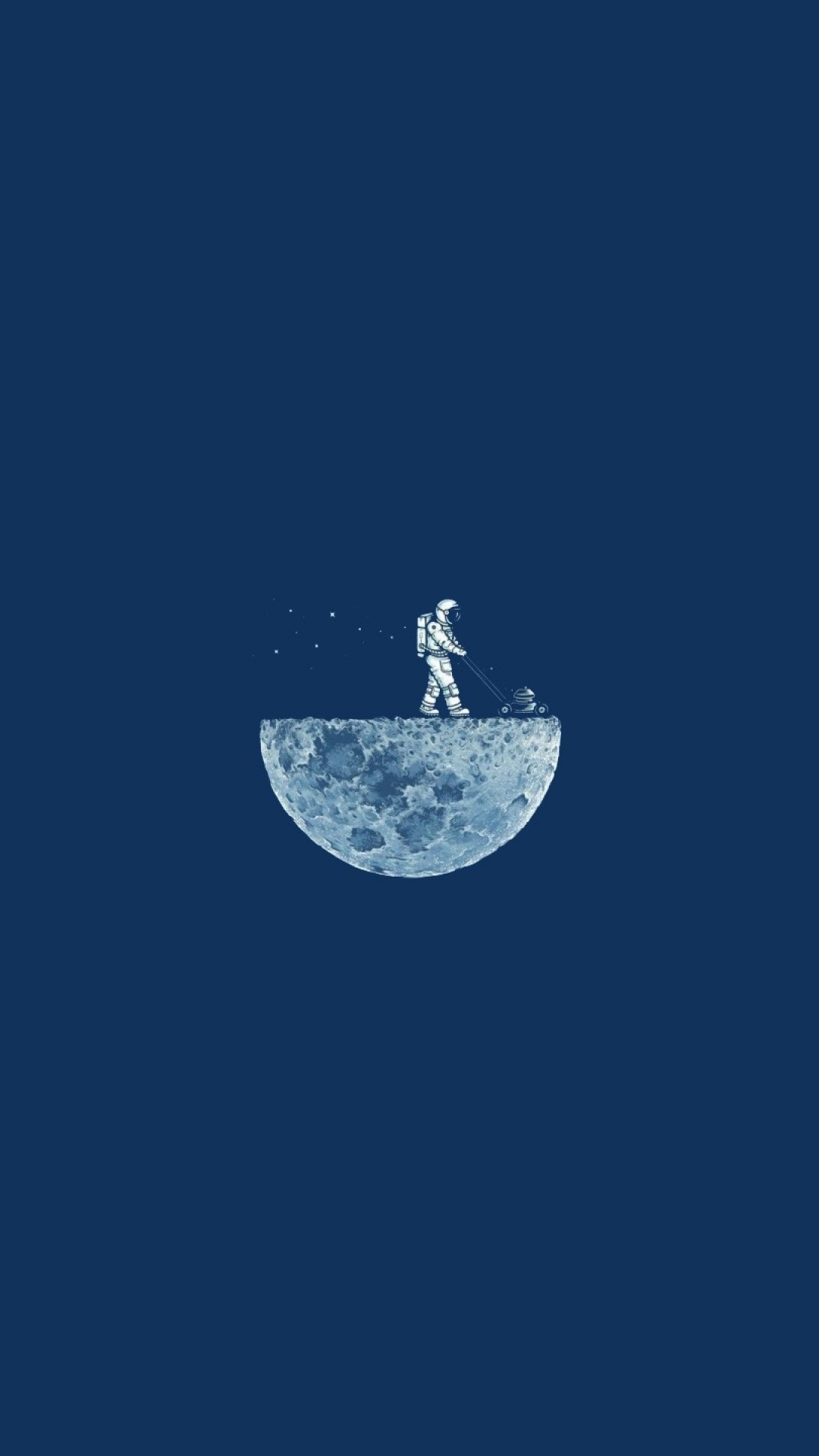 wallpaper moon mow  4k  hd  moon  minimalism  iphone