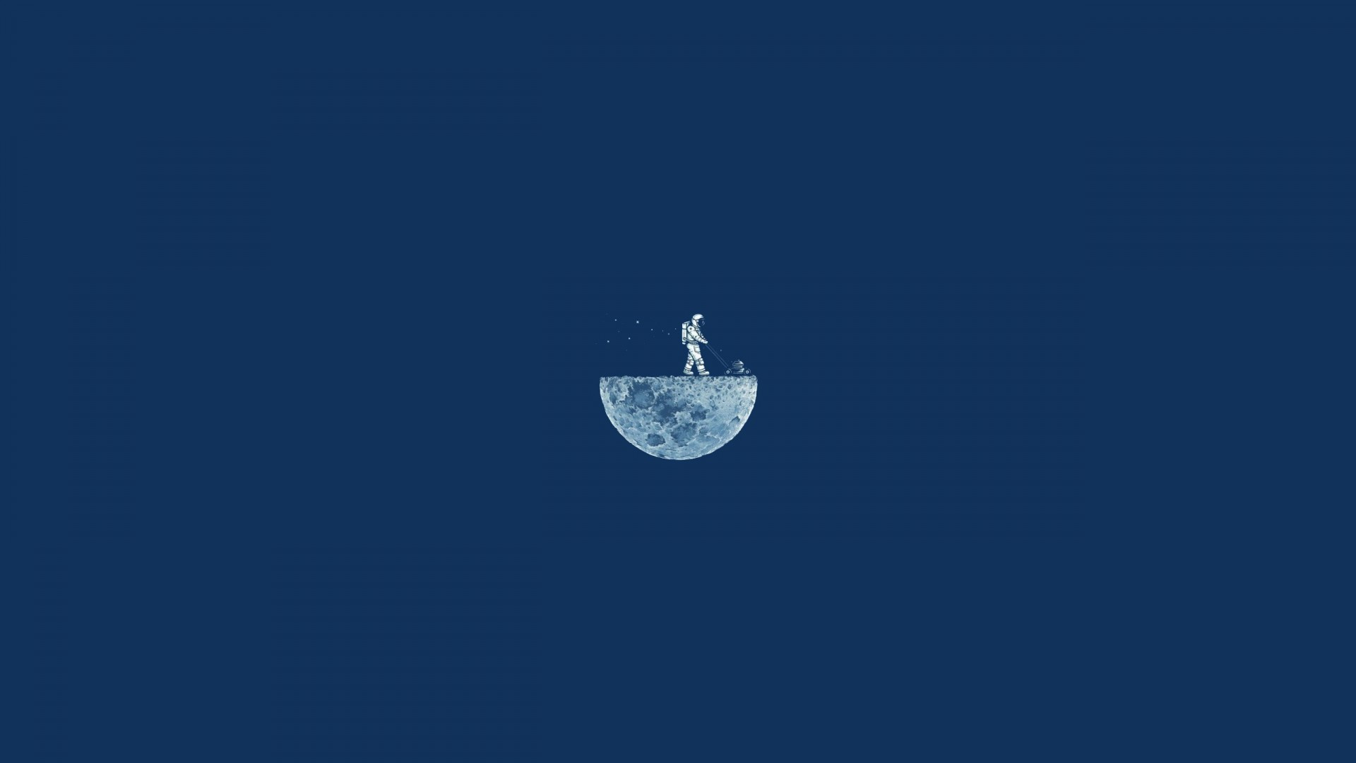Wallpaper Moon Mow 4k Hd Moon Minimalism Iphone Wallpaper Astronaut Blue Os 13442