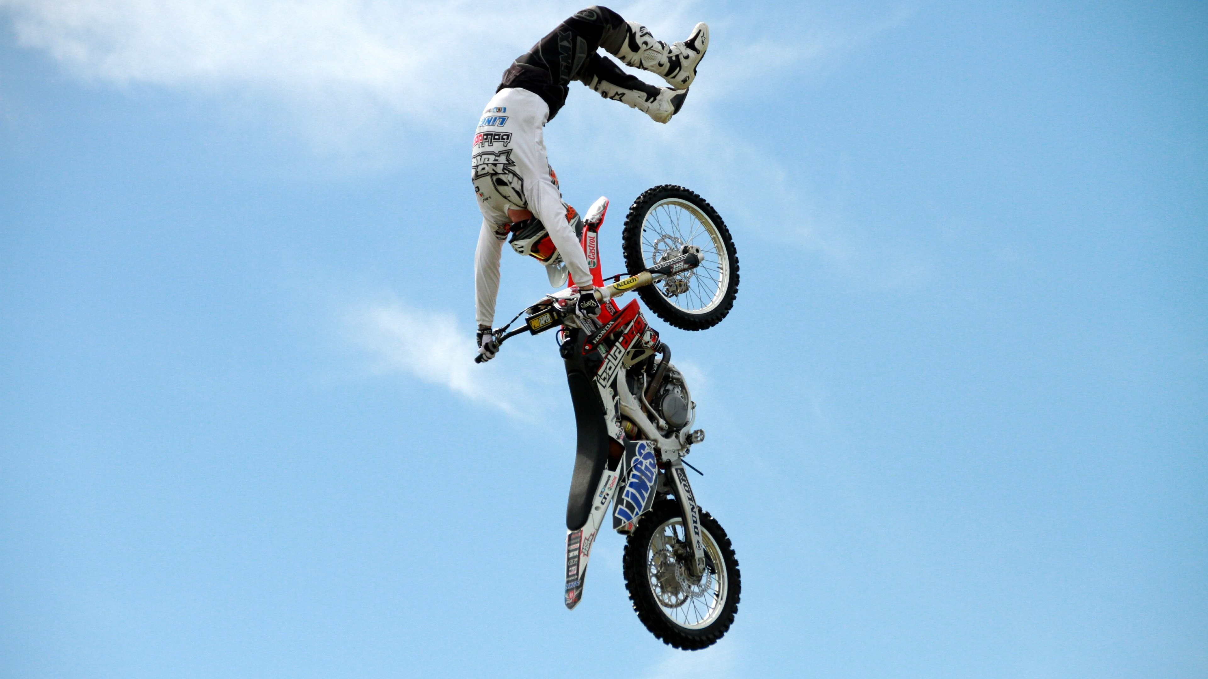 Wallpaper Motocross Fmx Rider Freestyle Maneuver