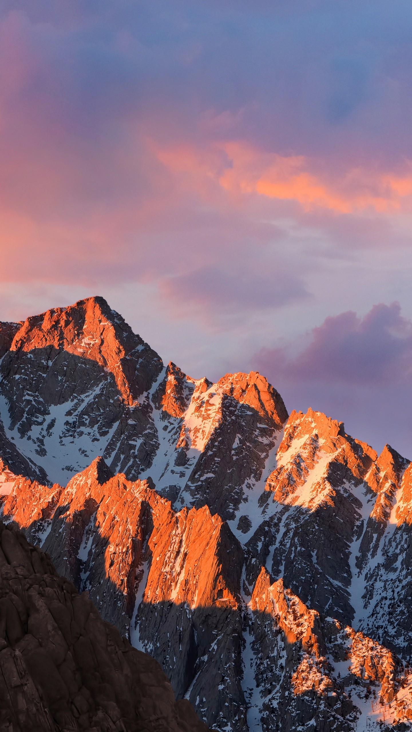 Wallpaper Mountains Macos 4k 5k Sierra Sky Android Wallpaper Os 11473