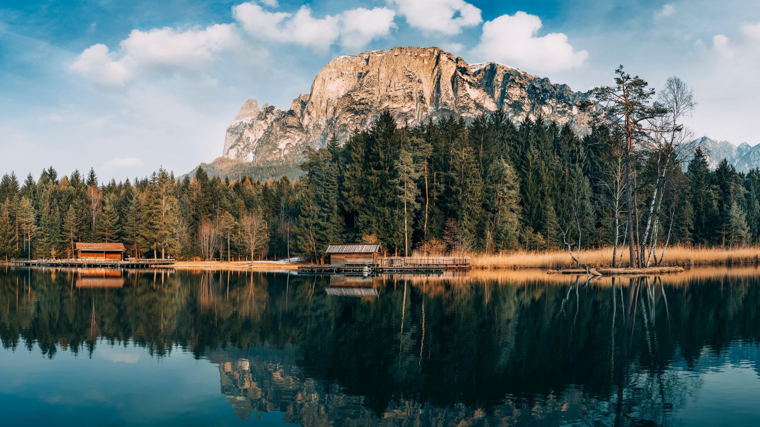 Wallpaper Mountains, 5k, 4k Wallpaper, 8k, Lake, Forest