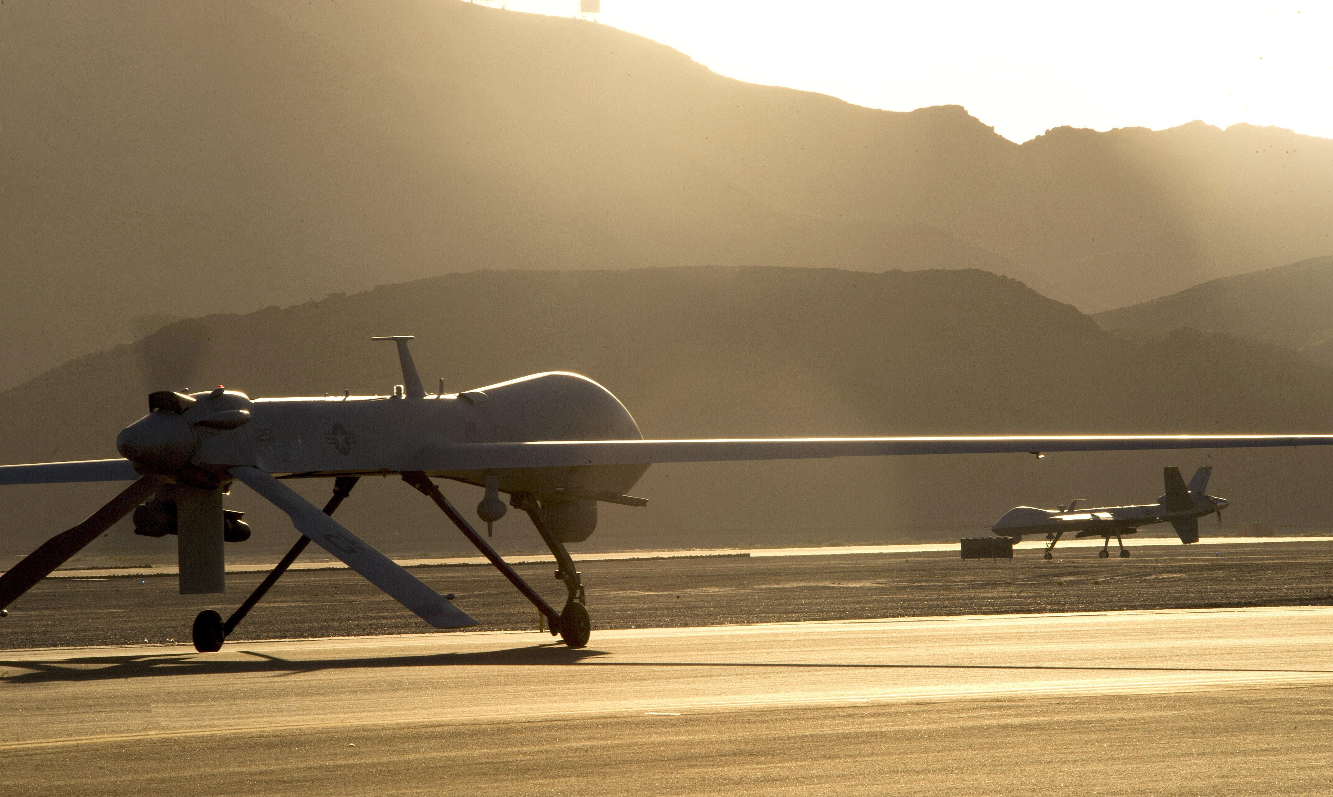 Wallpaper MQ 9 Reaper Drone Combat USA Army Landing