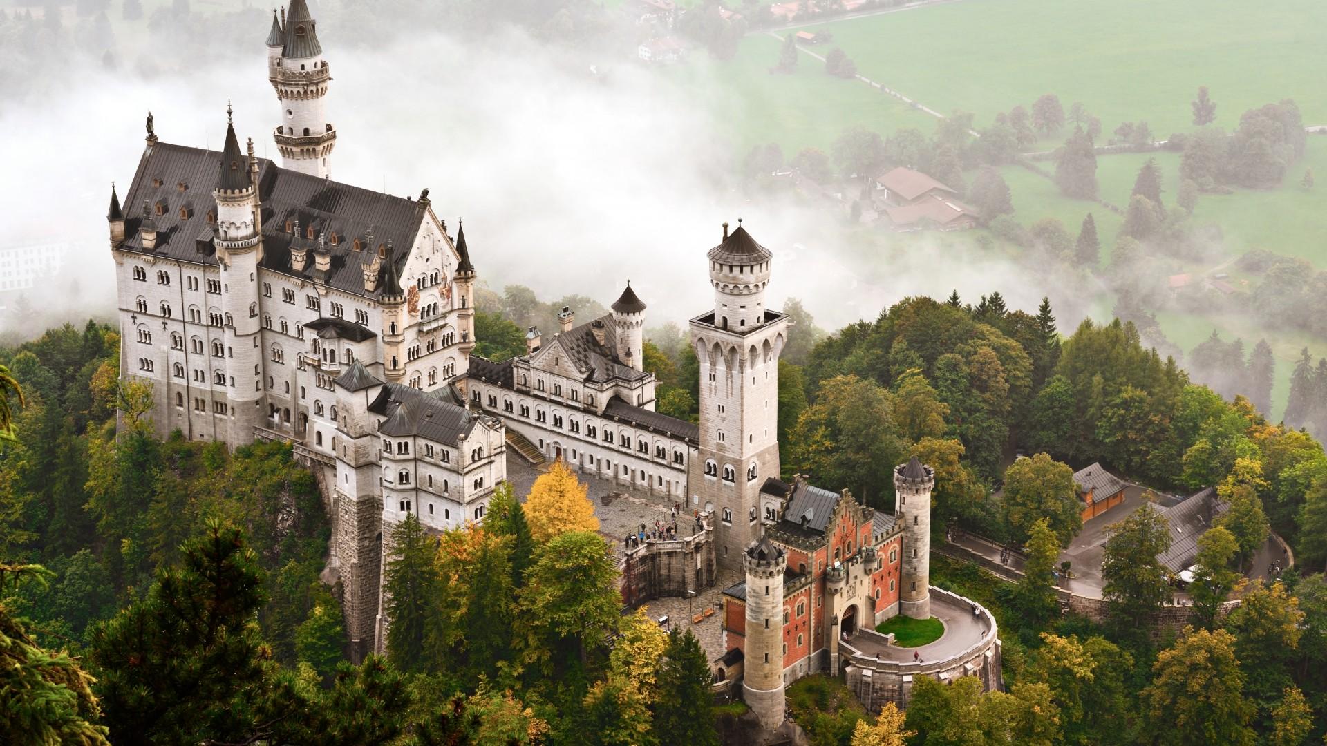 Wallpaper Neuschwanstein castle, Bavaria, Germany, tourism