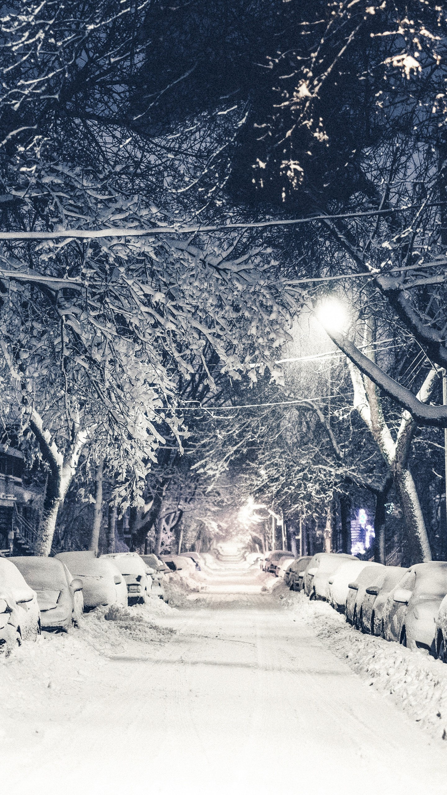 Wallpaper New York Winter 4k 5k Snow Street Os 12802