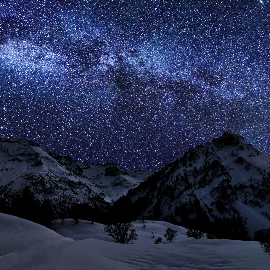 Download Wallpaper Night Ipad - night-sky-1024x1024-earth-sky-snow-stars-night-sea-mountain-cloud-425  2018-126573.jpg