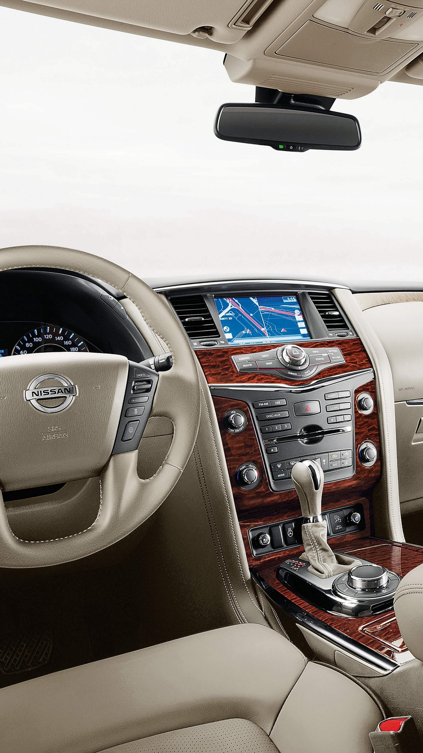 Wallpaper Nissan Armada, SUV, Crossover, interior, Cars ...