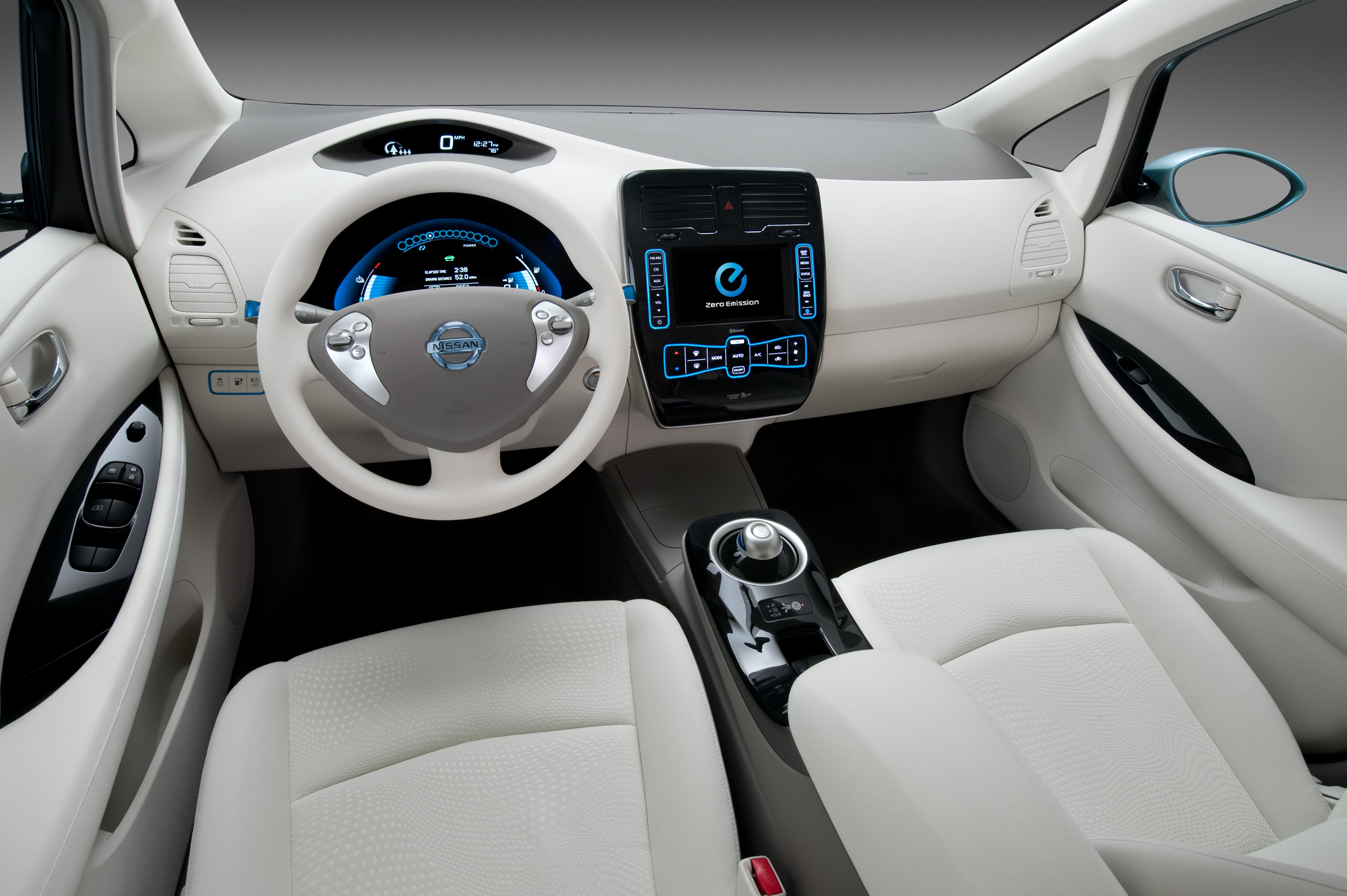 Wallpaper Nissan Leaf Electric Cars Nissan Interior City Cars