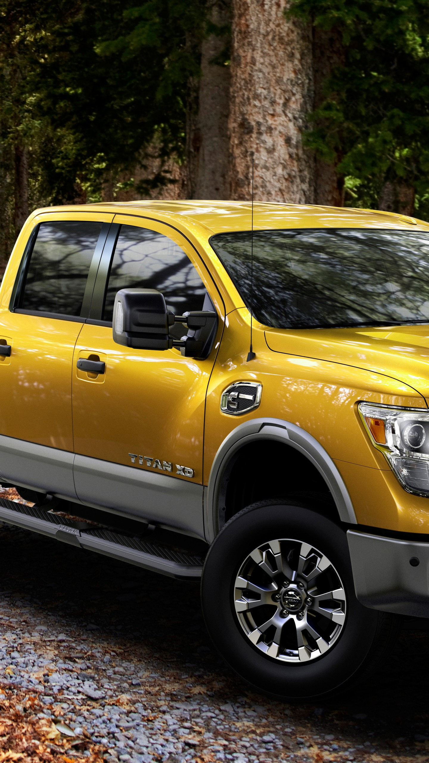 wallpaper nissan titan pickup suv yellow  cars bikes