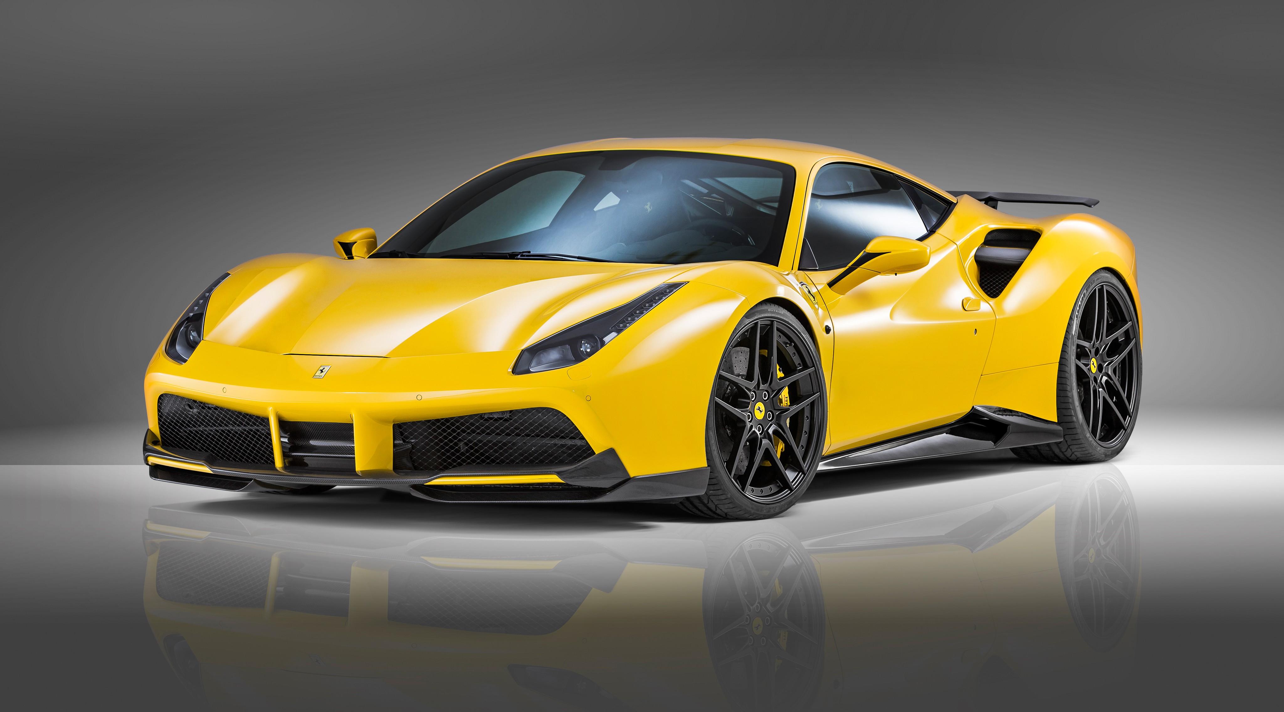 NOVITEC ROSSO Ferrari 488 gtb, supercar, yellow, speed (horizontal) ...