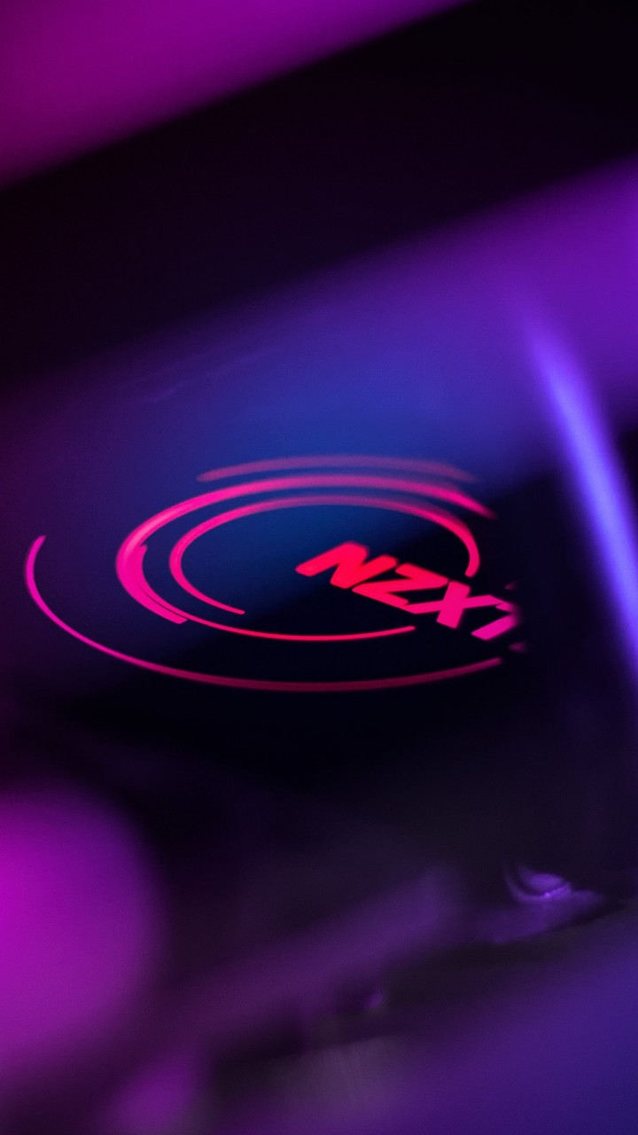 Wallpaper NZXT, purple, light, 4K, Hi-Tech #19895