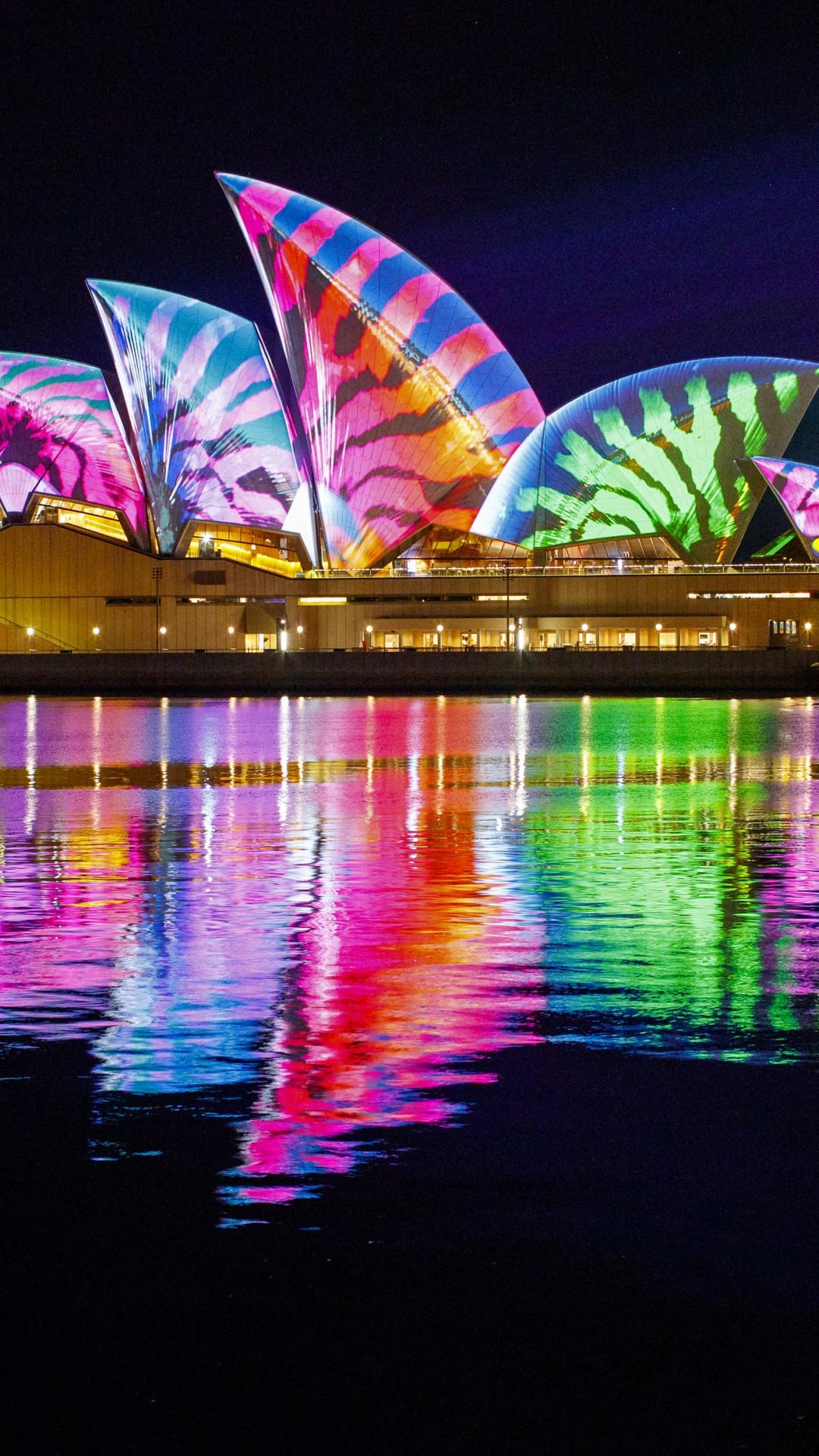 Wallpaper Opera House, Sydney, Australia, Night, 4K -2930