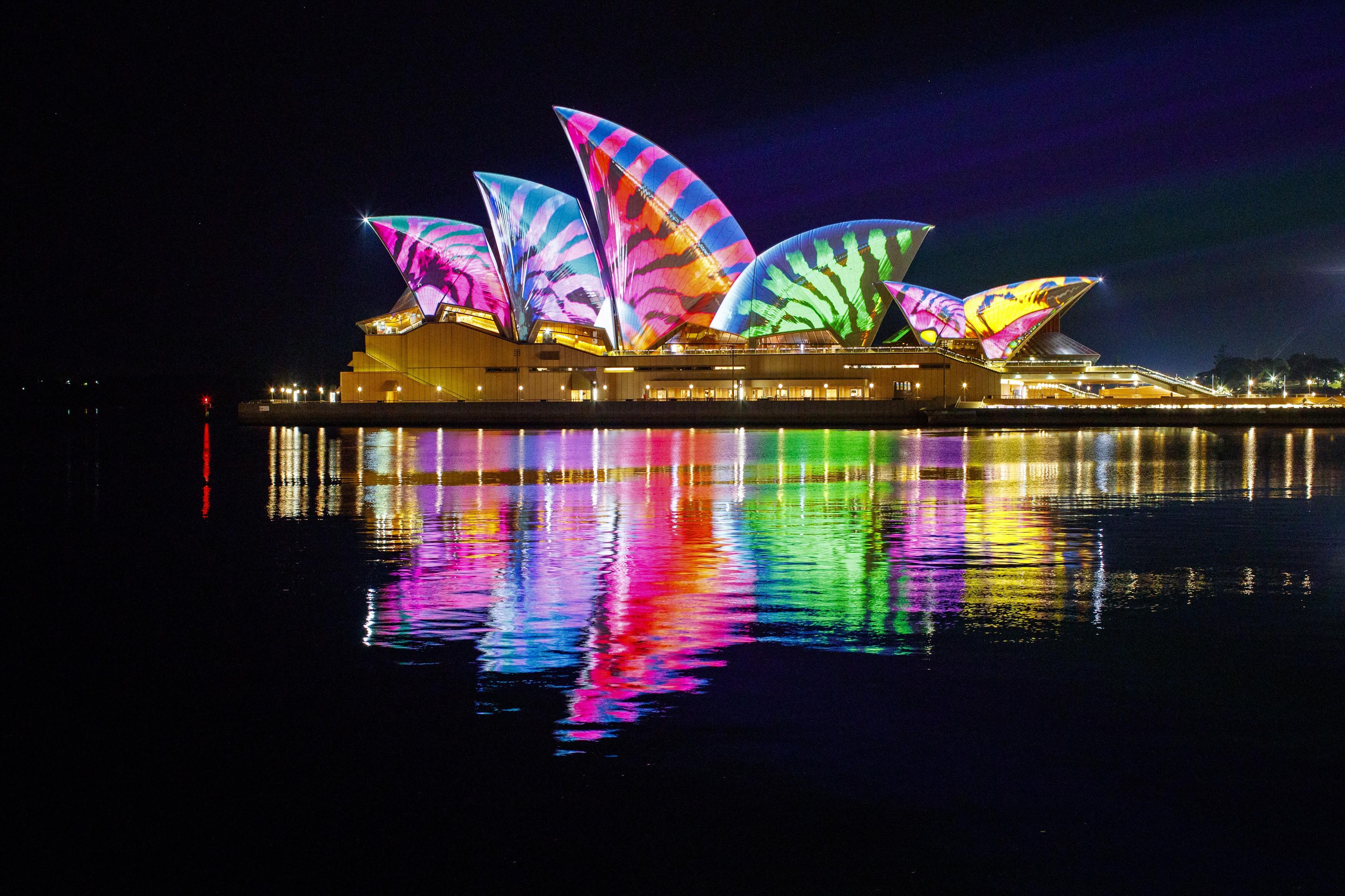opera house 3500x2333 sydney australia night 4k 16175