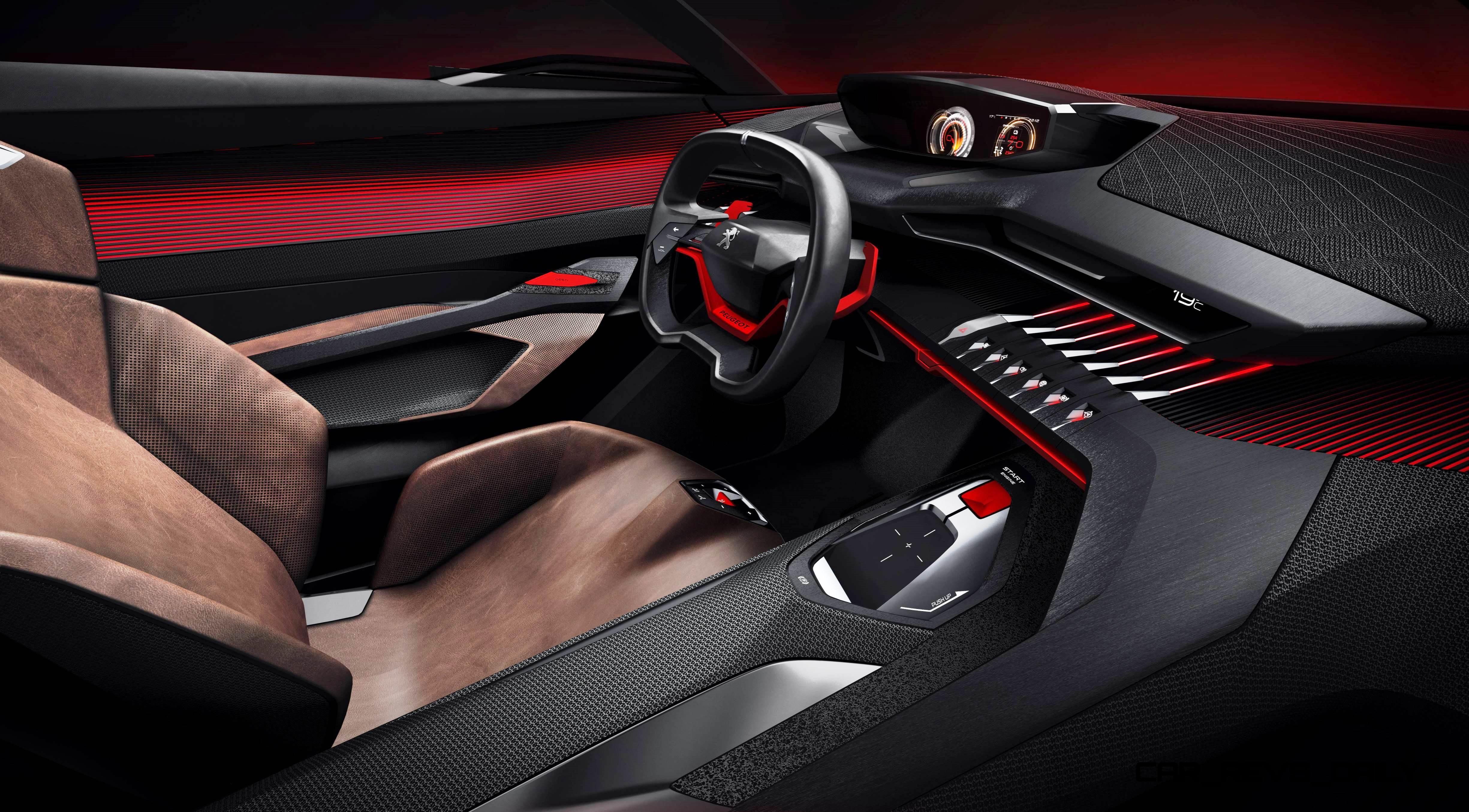 Wallpaper Peugeot Quartz Concept Interior Supercar Sports Car