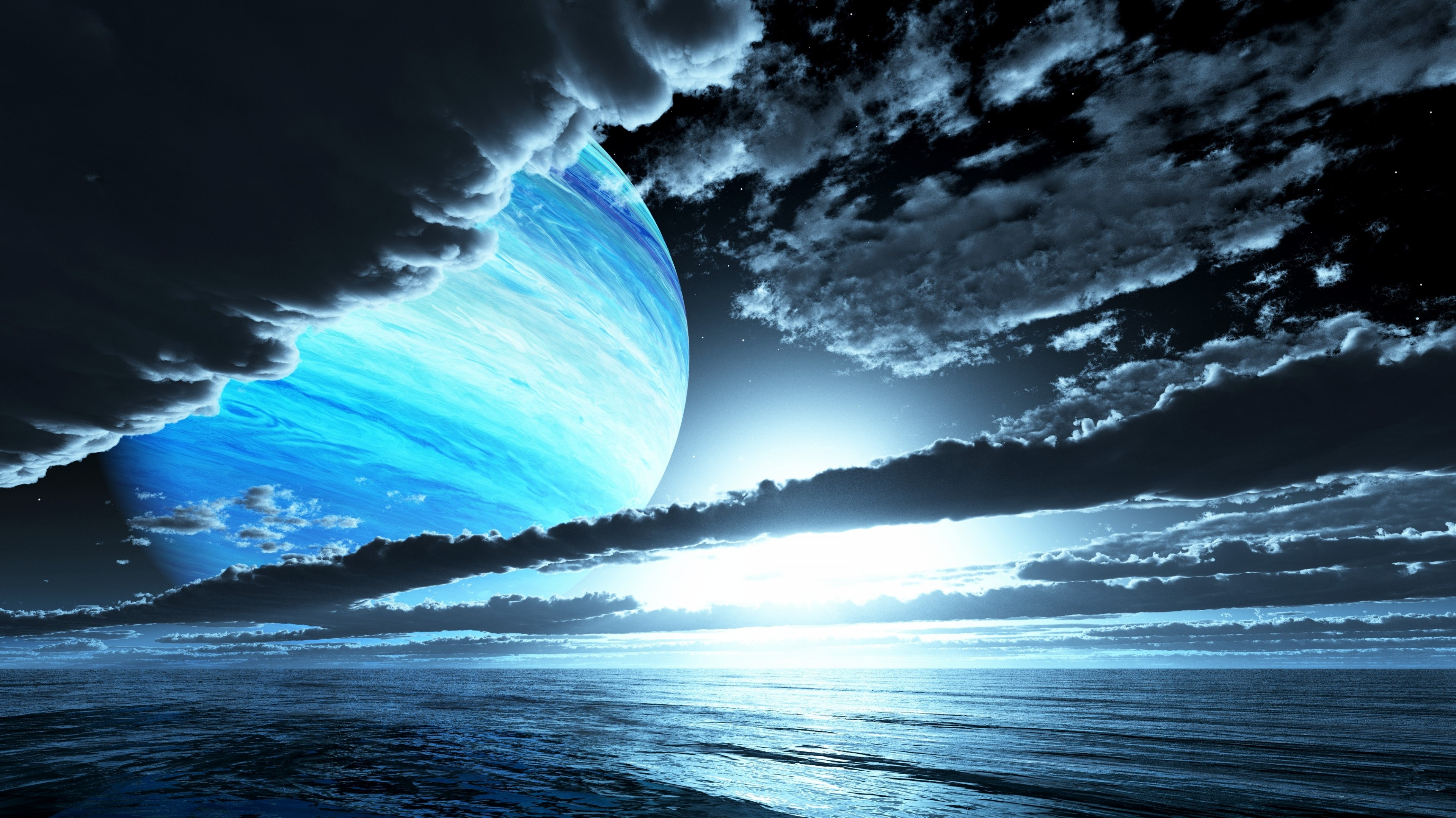 Wallpaper planet clouds ocean 4k Space 16031 Page 2