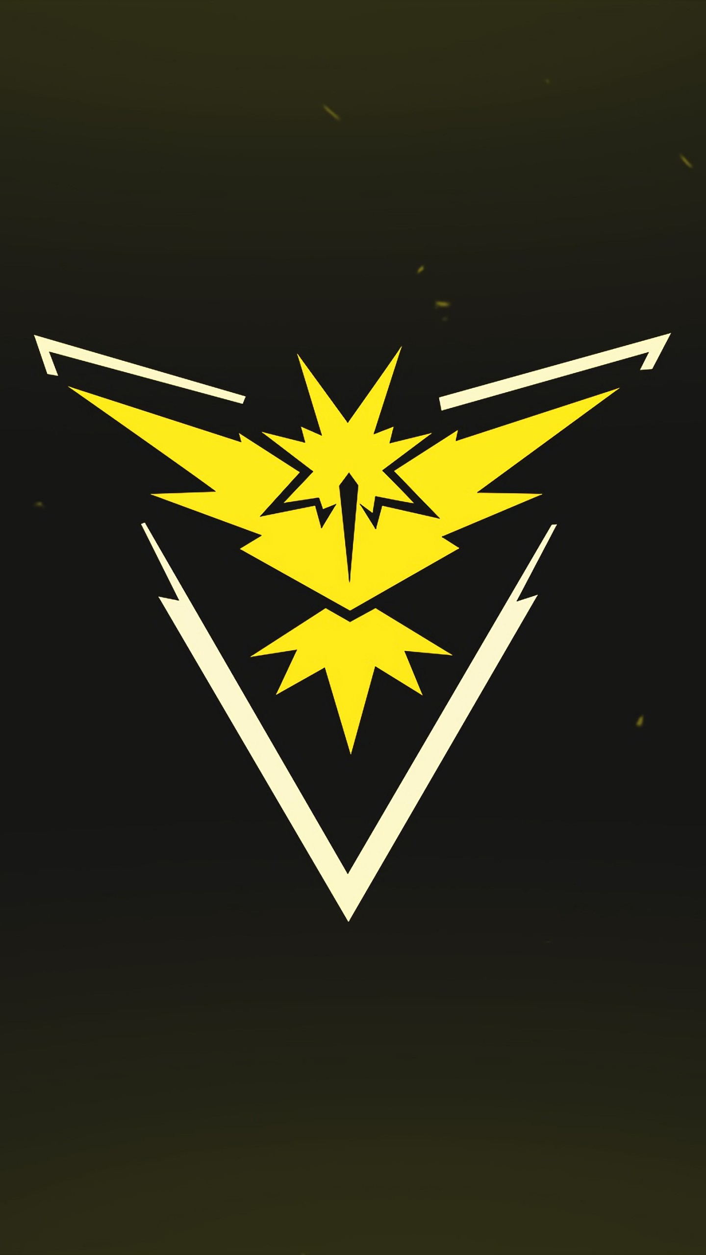 Wallpaper Pokemon Go Logo Yellow Team Instinct Mobile