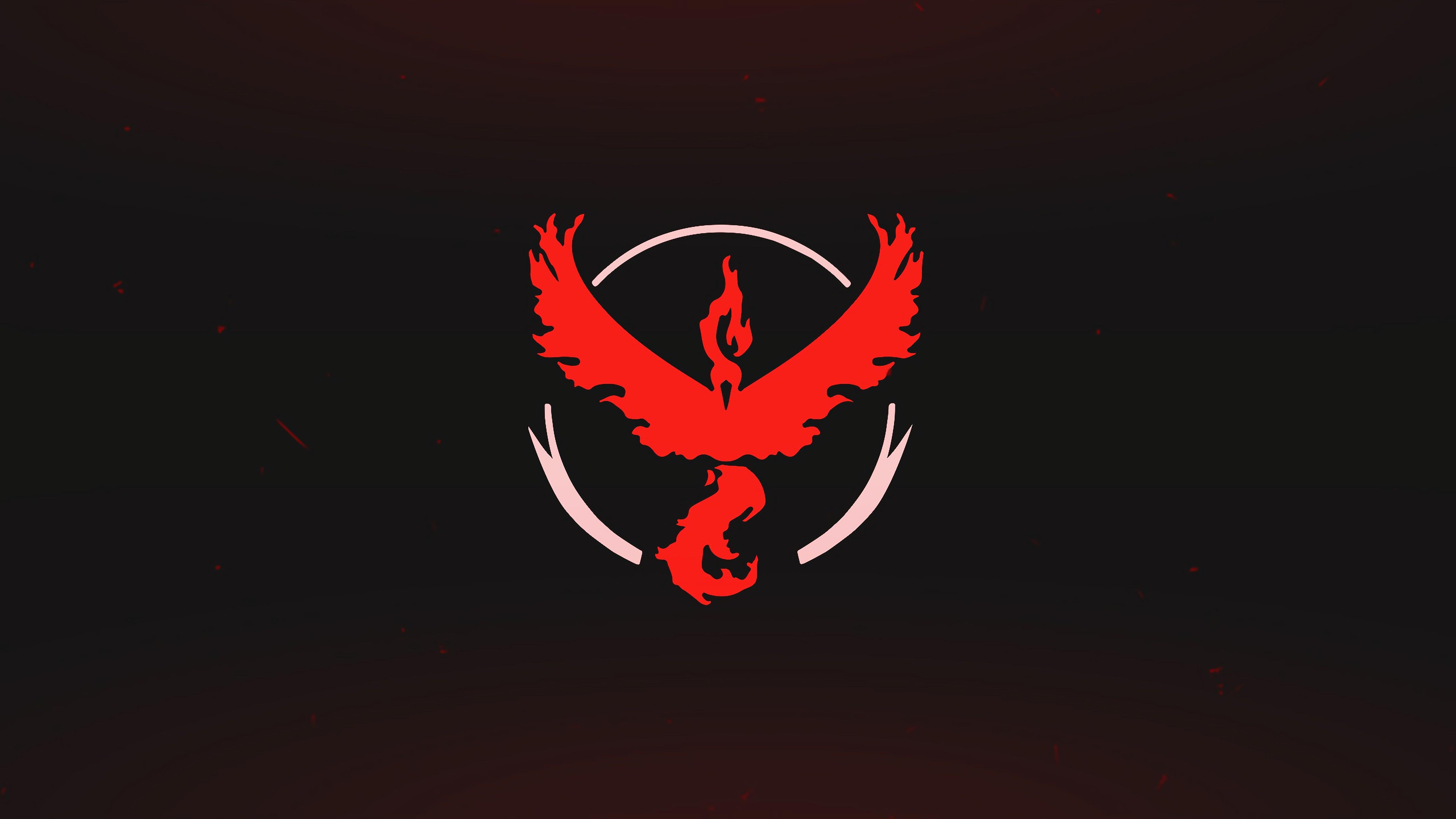 Wallpaper Pokemon Go, Logo, Red, Team, Valor, Mobile
