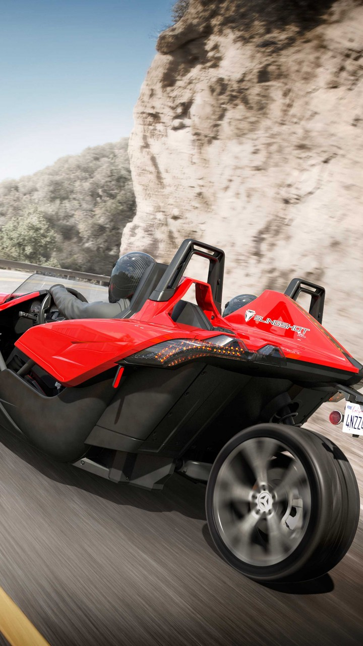 Wallpaper Polaris Slingshot Limited Edition Red Cars