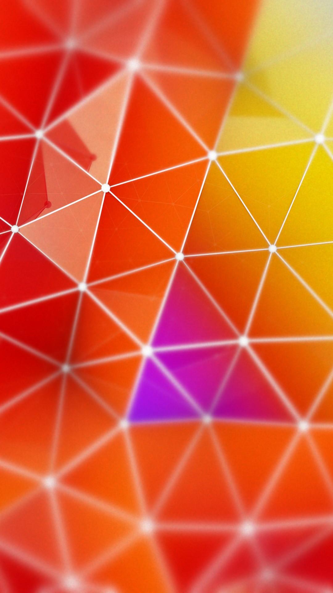 Wallpaper polygon, 4k, 5k wallpaper, orange, red, blue ...
