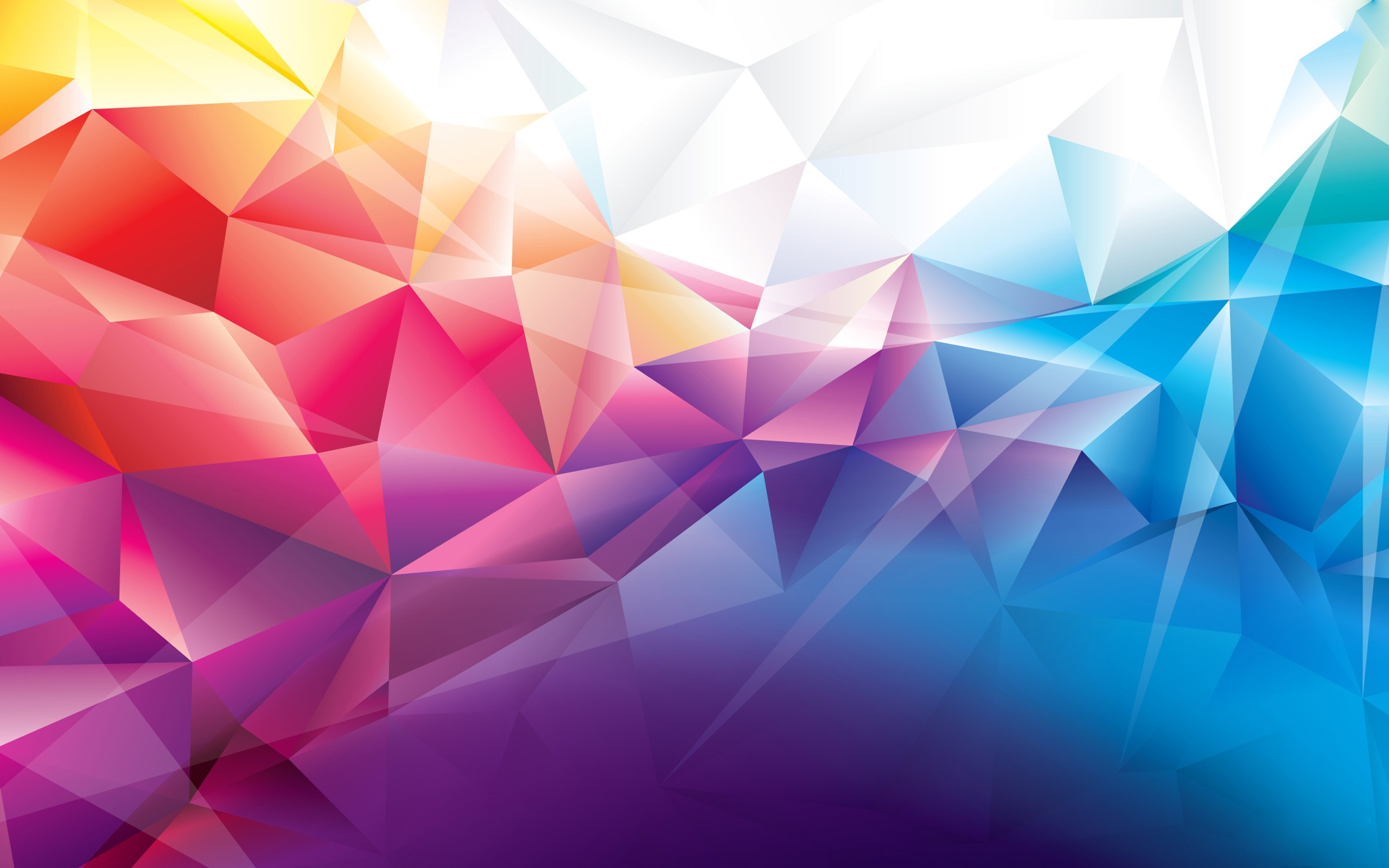polygon wallpaper abstract polygon orange red blue