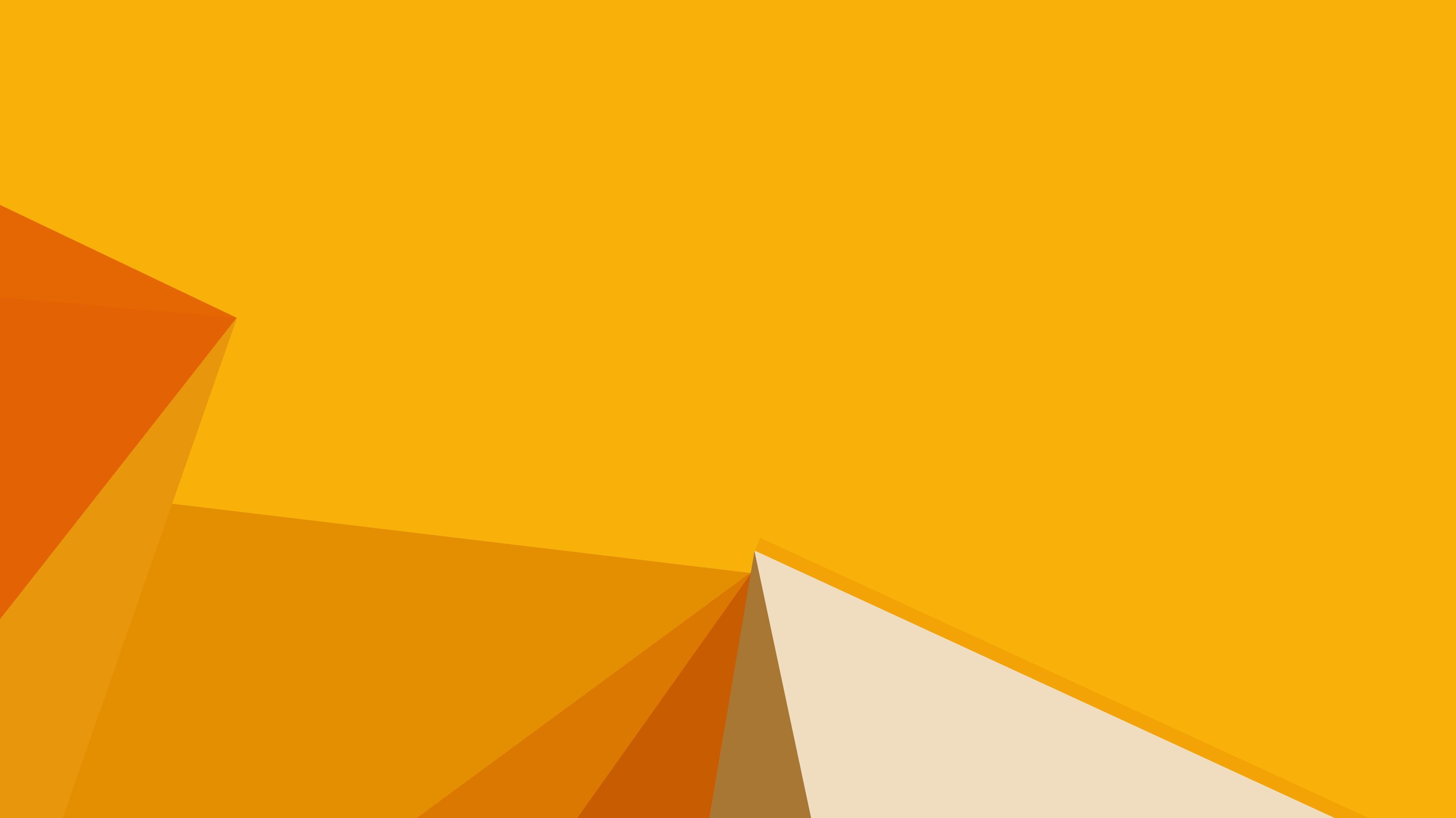Wallpaper Polygon, Yellow, 4k, OS #15376