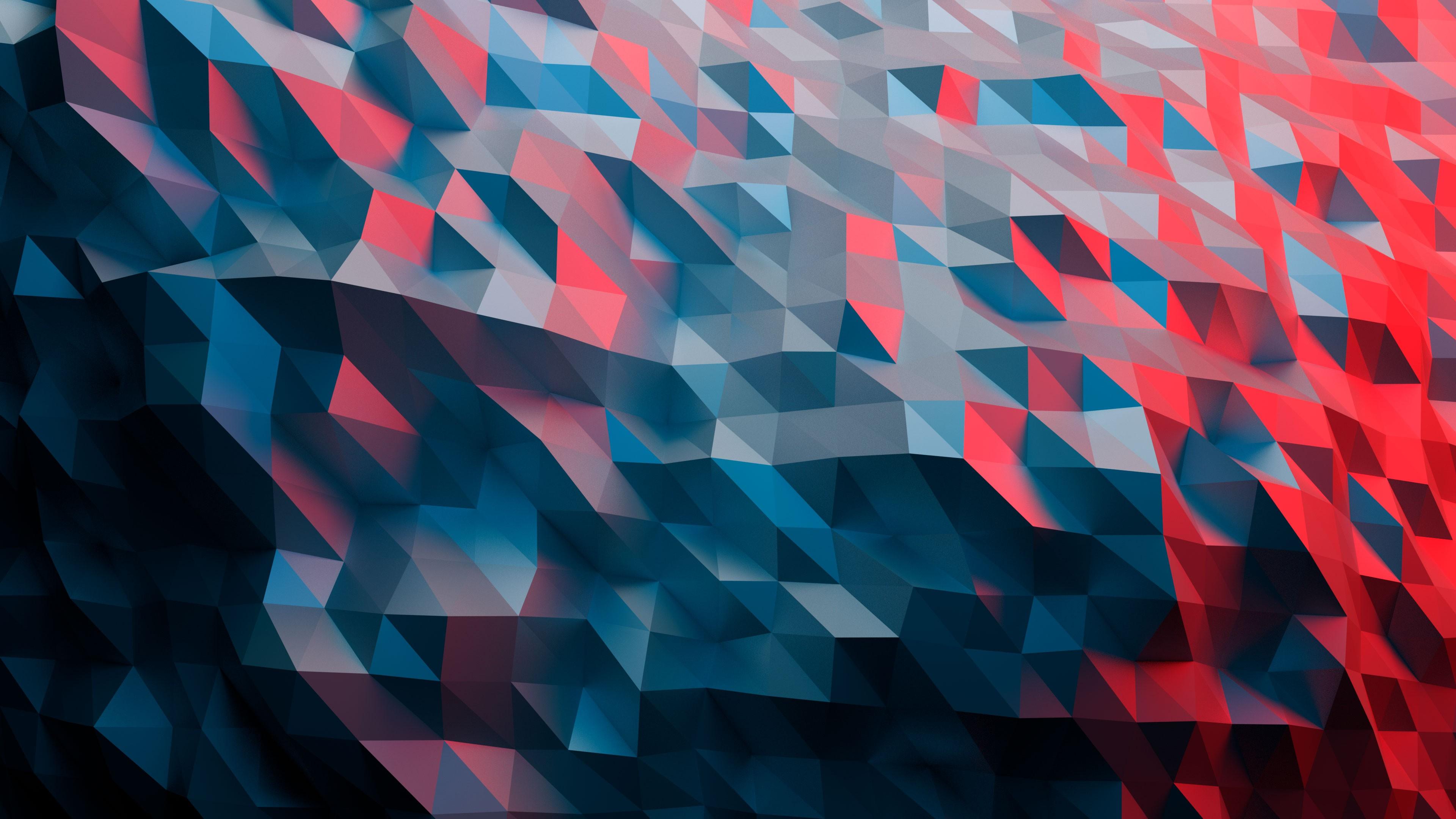 Wallpaper Polygon, 4k, Abstract #16202