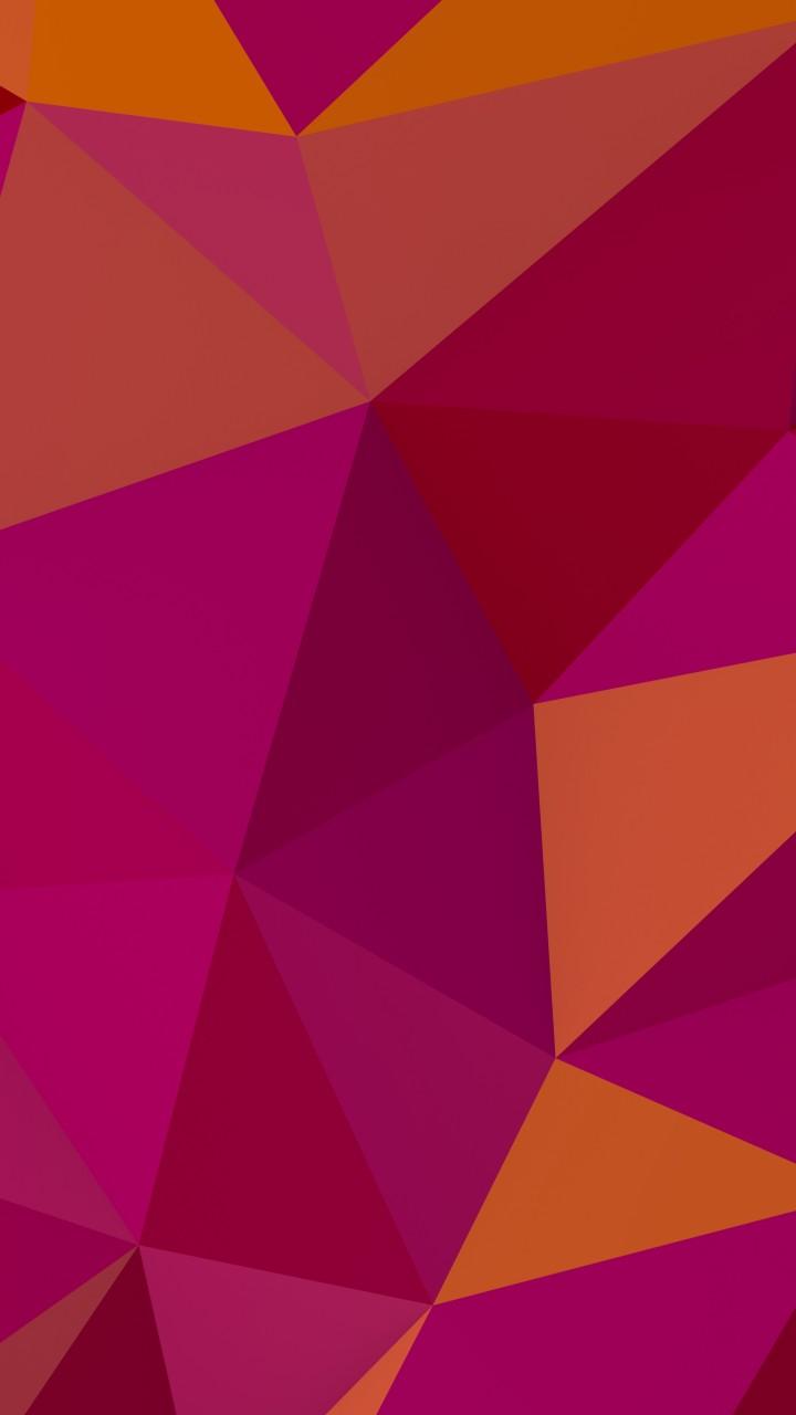 Wallpaper polygon 4k 5k wallpaper 8k pink orange - Pink wallpaper 4k ...