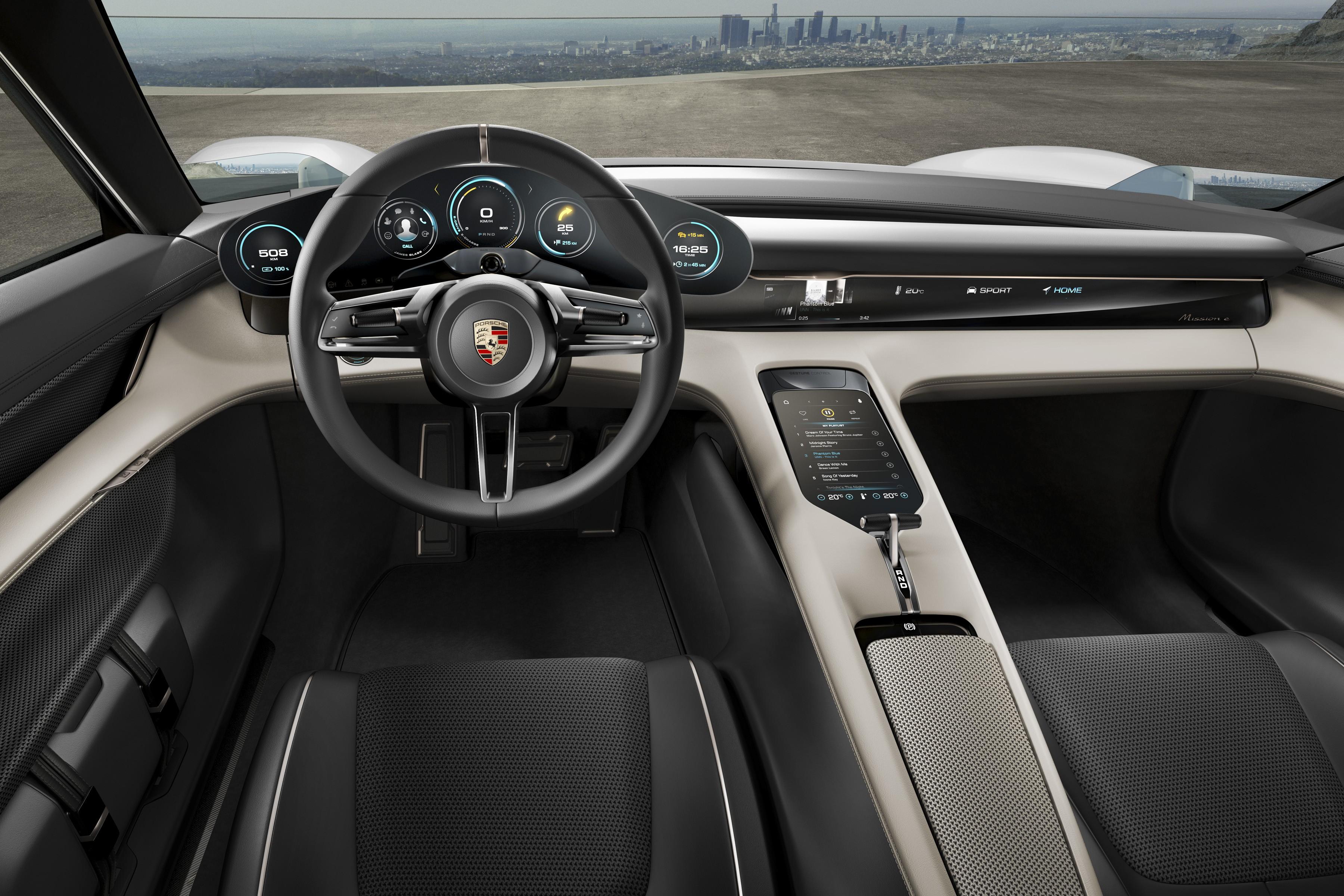 Wallpaper Porsche Mission E Electric Cars Supercar