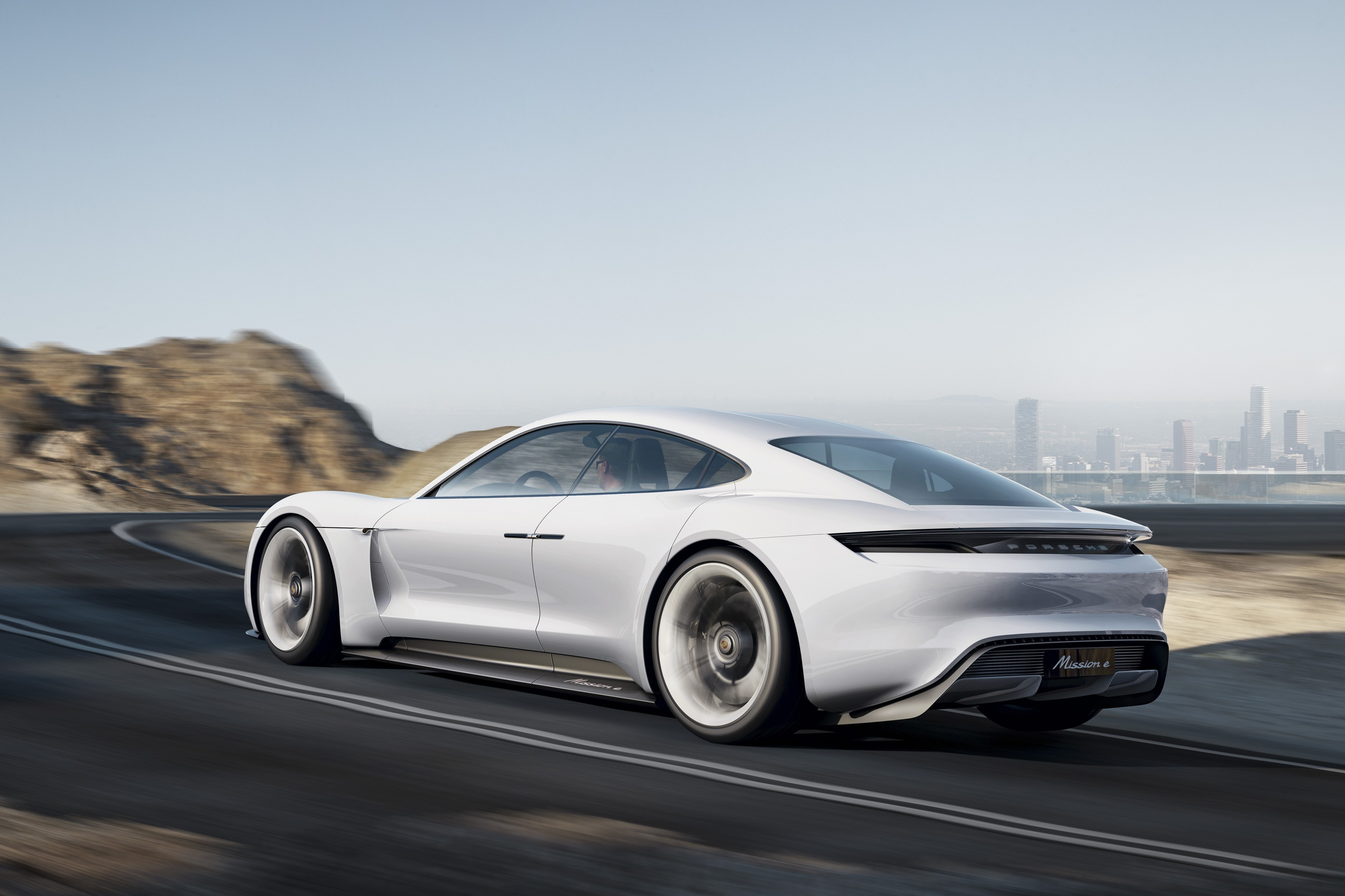 Wallpaper Porsche Mission E Electric Cars Supercar White