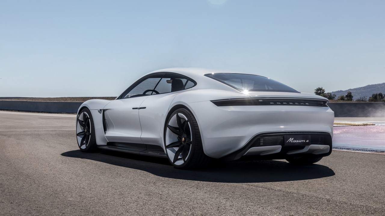 Wallpaper Porsche Taycan Electric Car Supercar 2020
