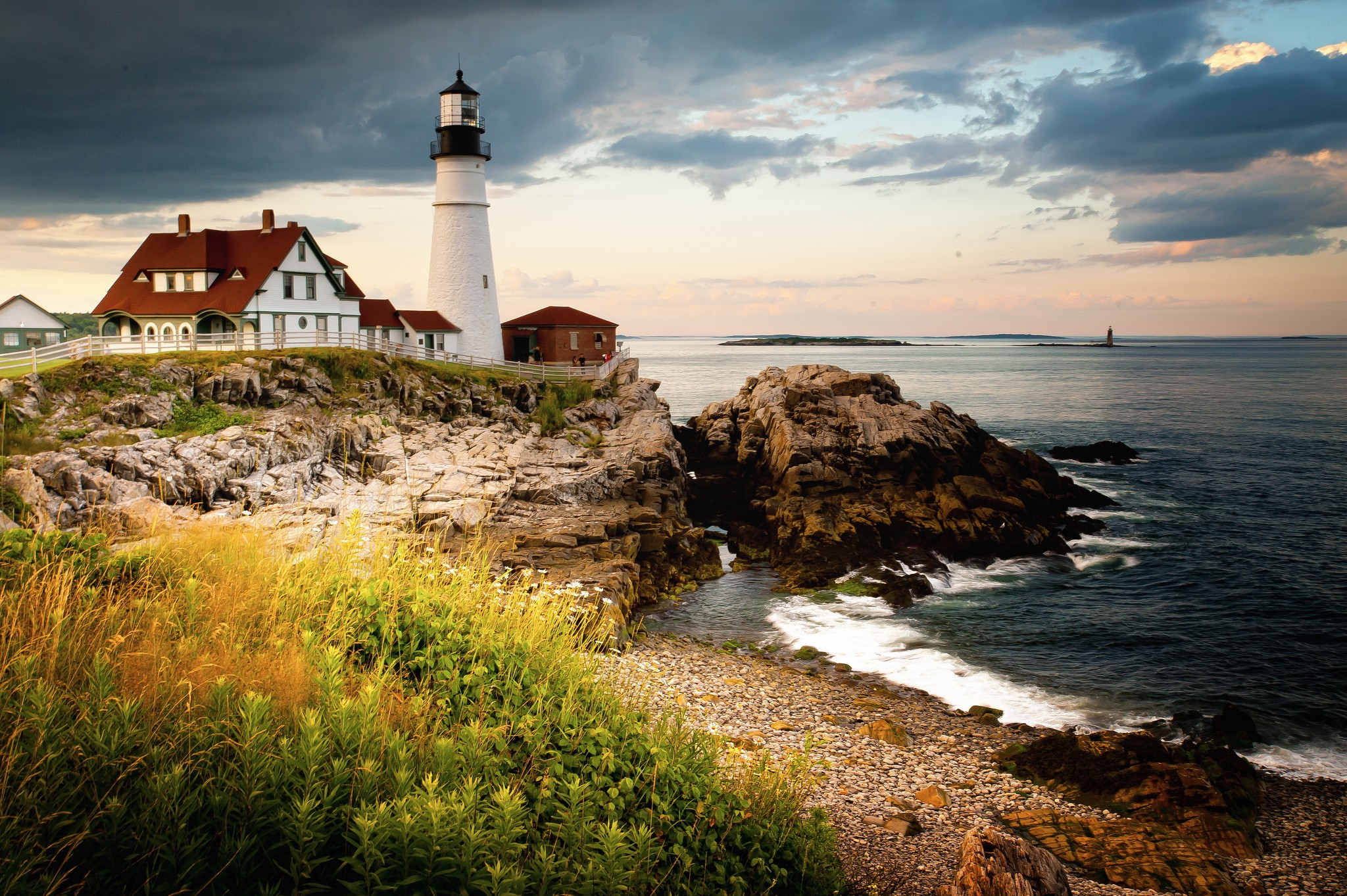 wallpaper portland head light, 4k, hd wallpaper, cape elizabeth
