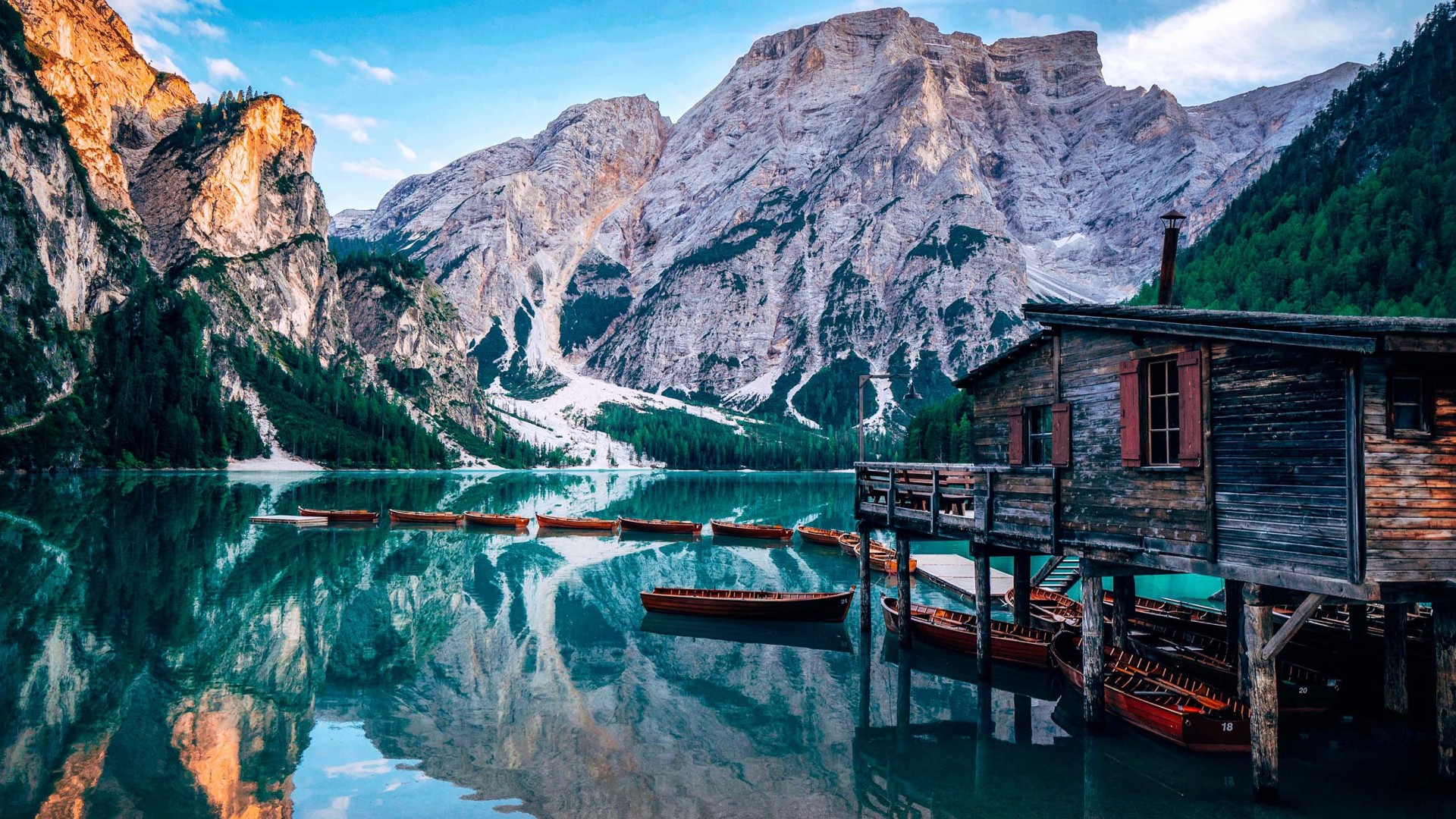 Wallpaper Pragser Wildsee Lake Italy Europe 4k Travel 20310
