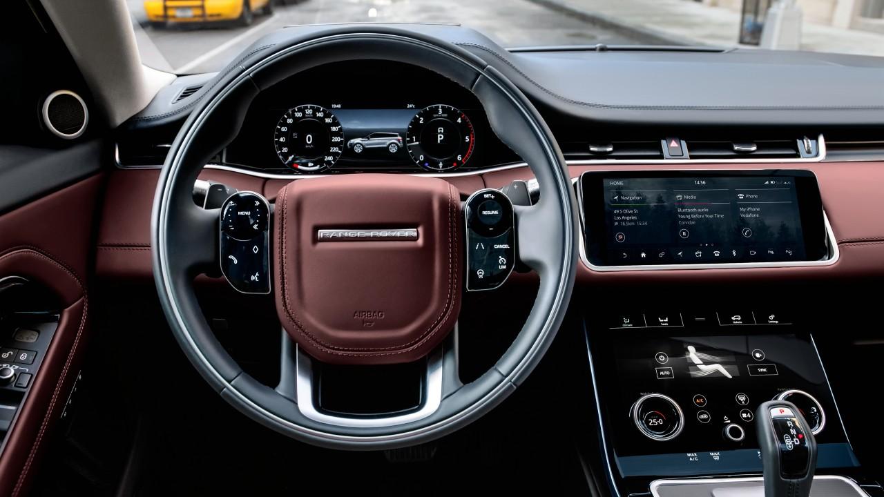 Wallpaper Range Rover Evoque interior SUV 2019 Cars 4K