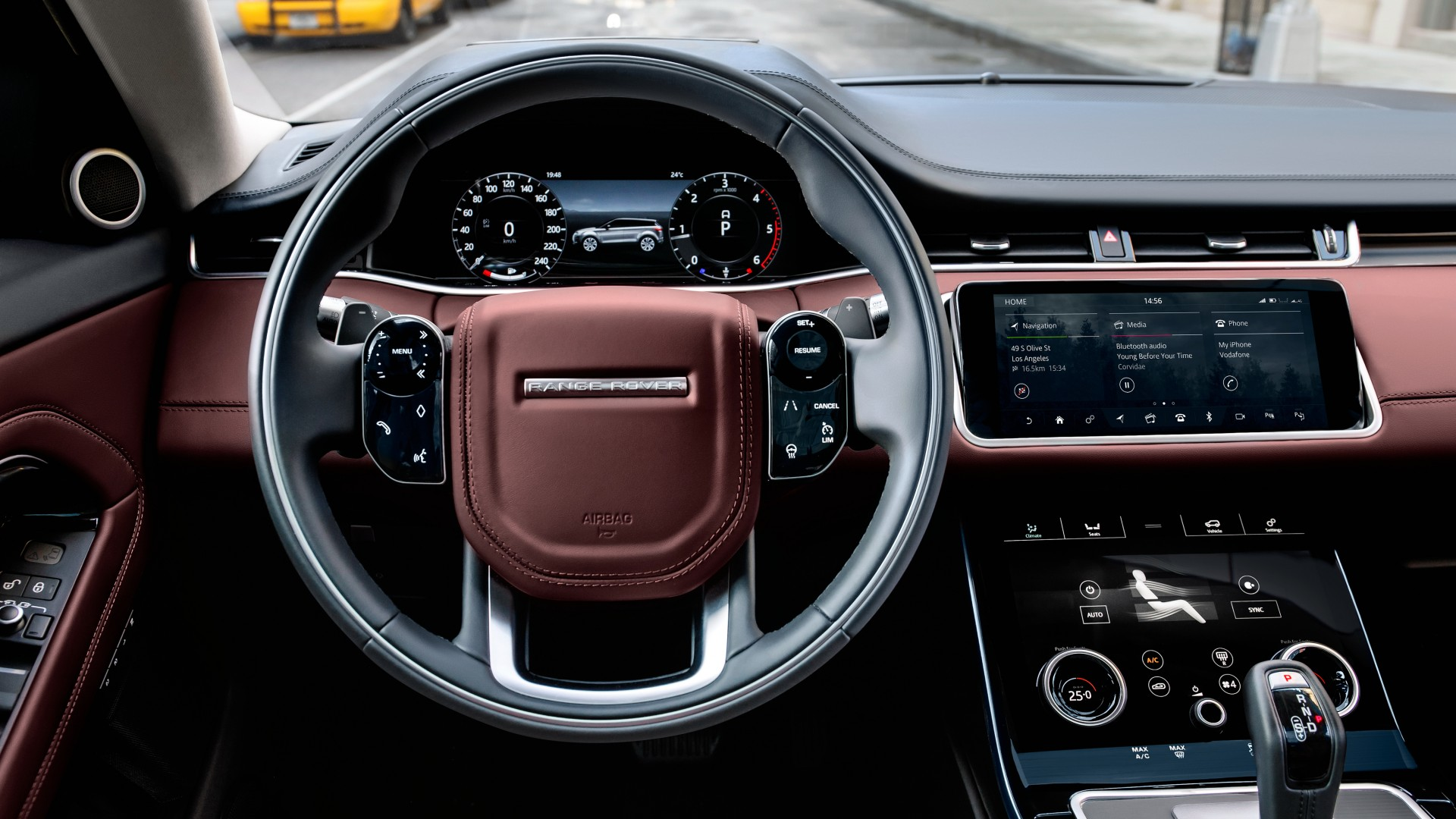 Wallpaper Range Rover Evoque Interior Suv 2019 Cars 4k
