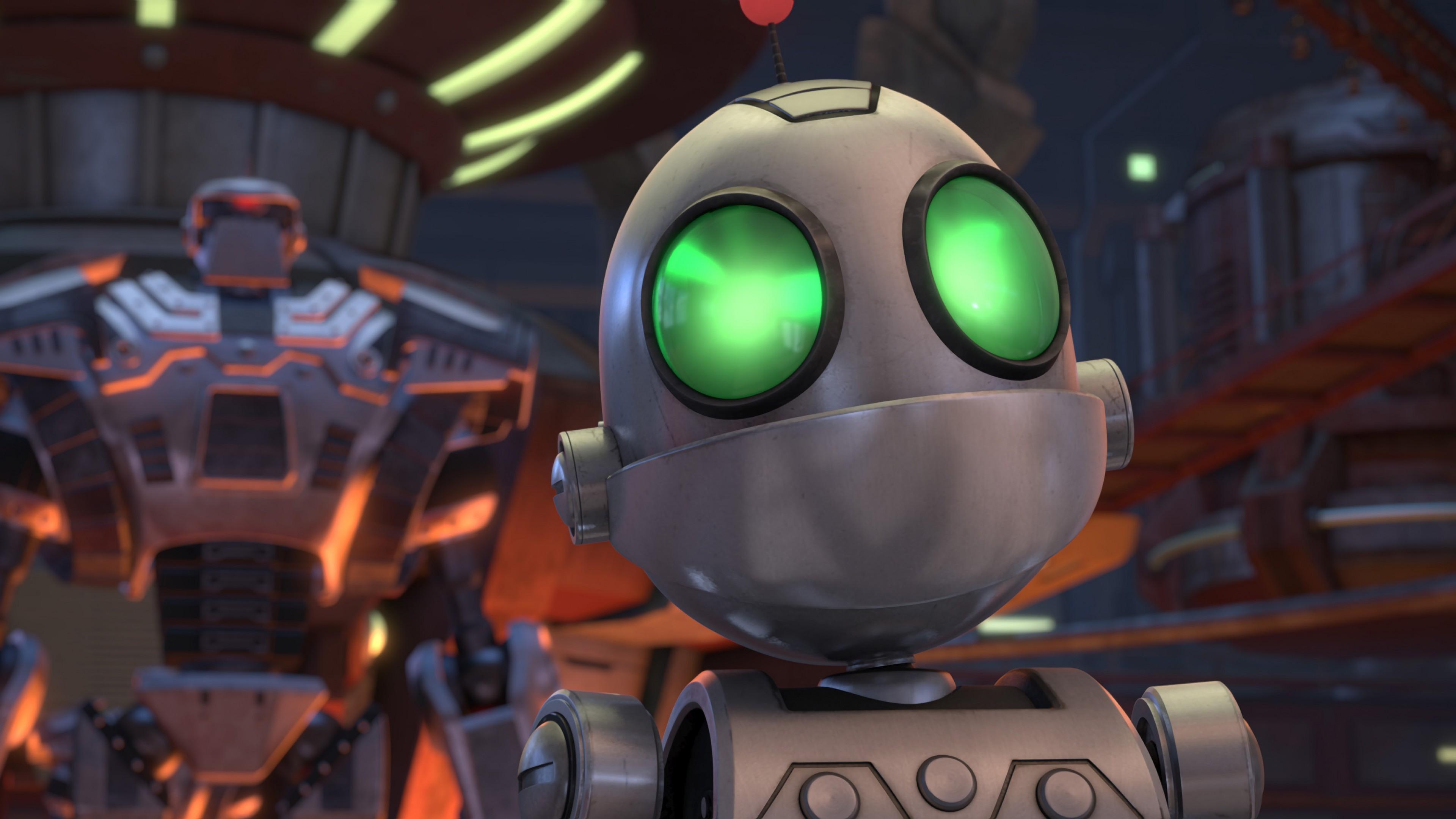 Wallpaper Ratchet & Clank, Clank, robot, best animation