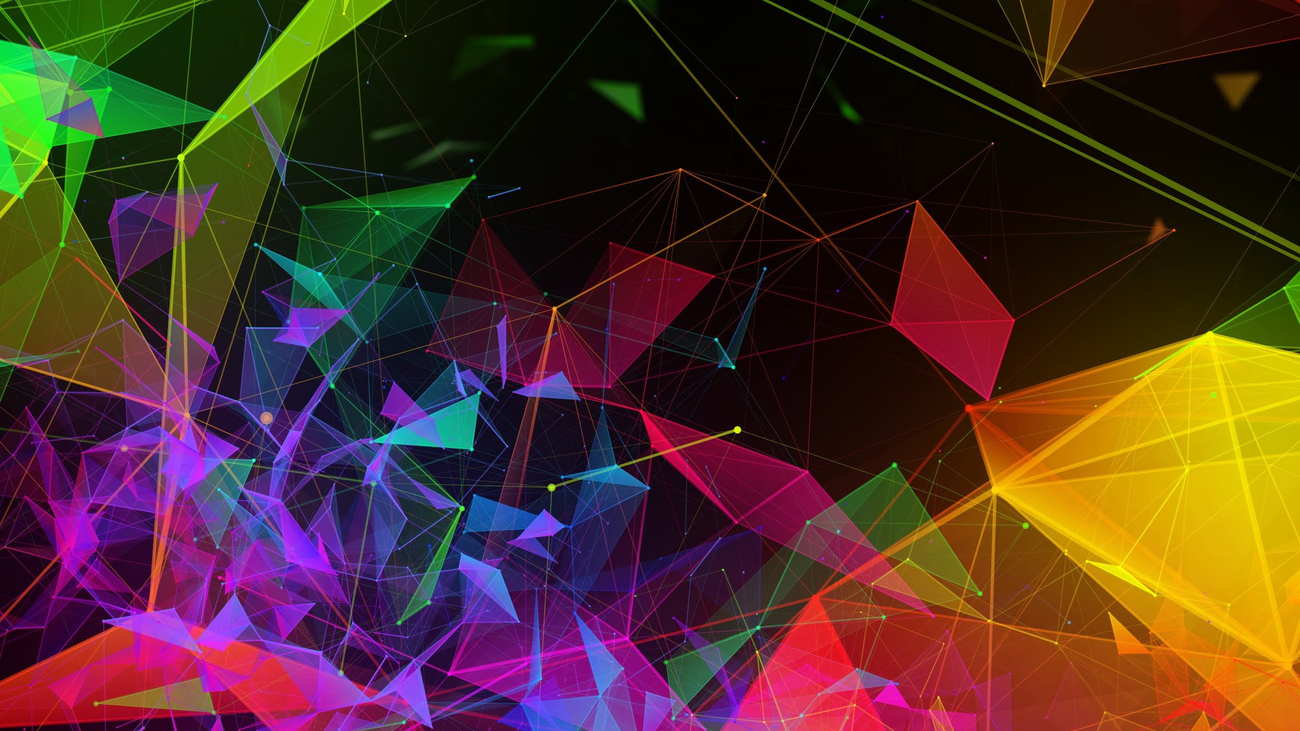 Wallpaper Razer Phone 2, abstract, colorful, HD, OS #20755