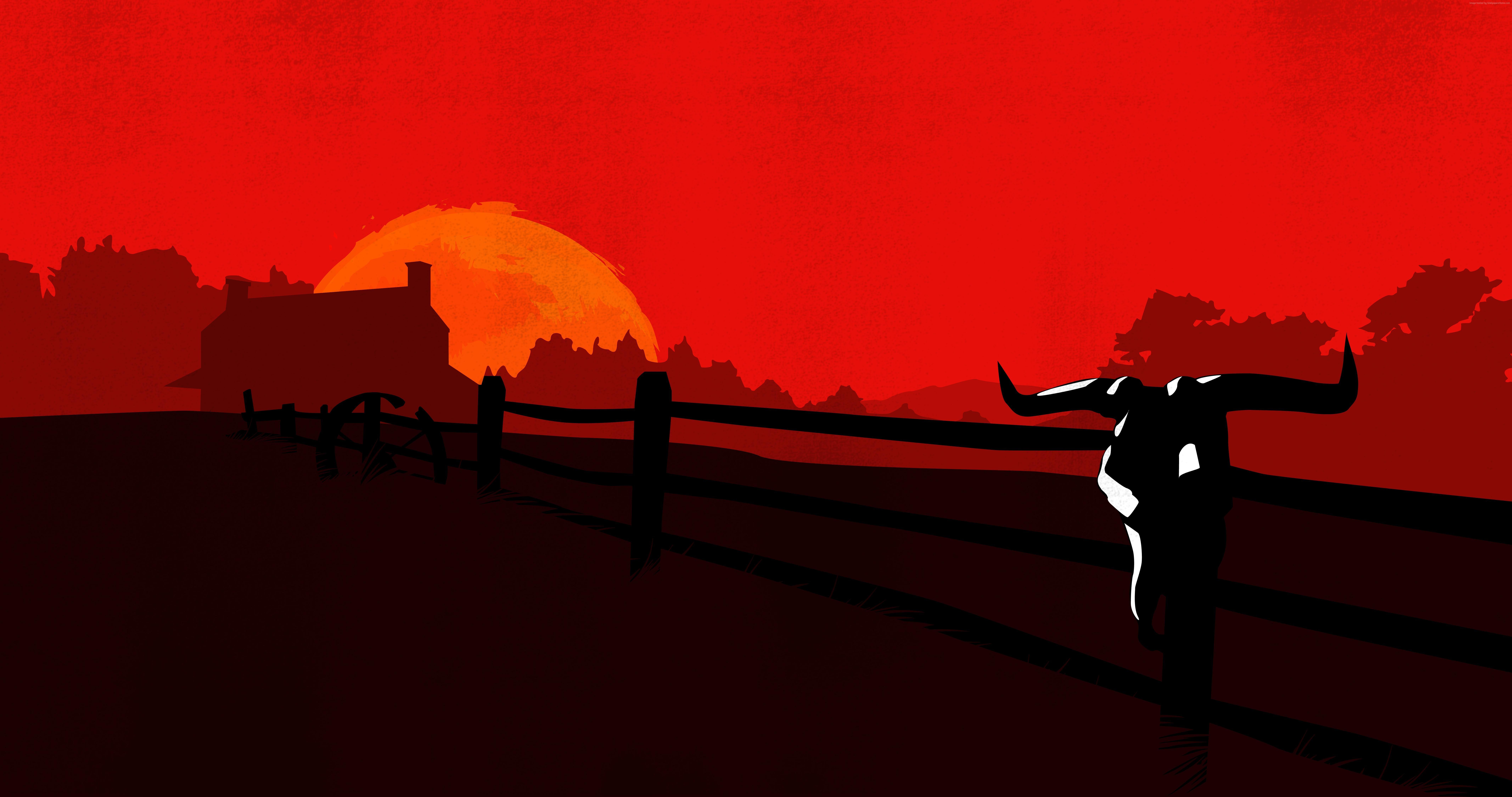 4k wallpaper - Wallpaper Red Dead Redemption 2 4k Celular