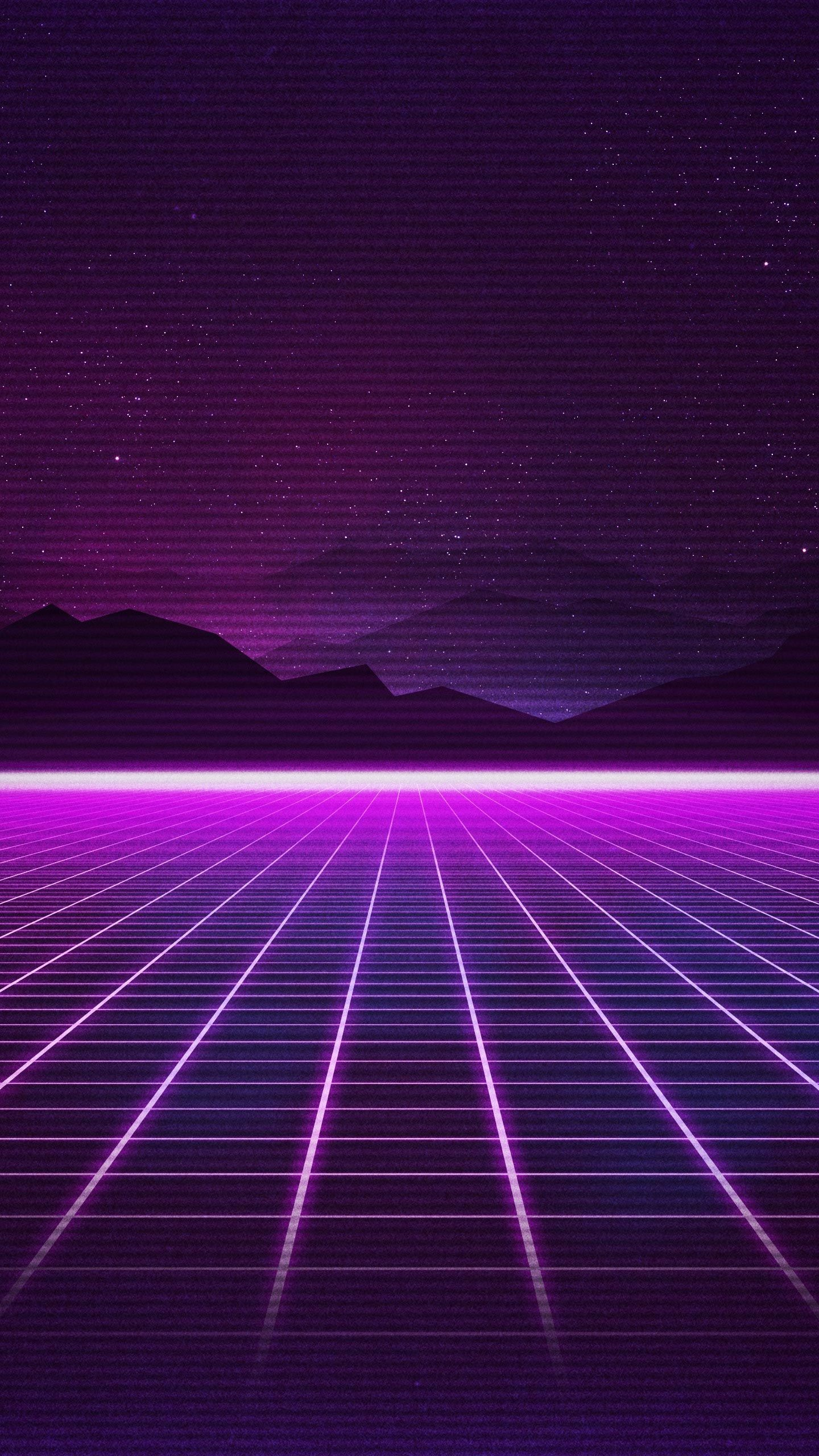 Wallpaper Retrowave Purple Lines 4k Art 18921