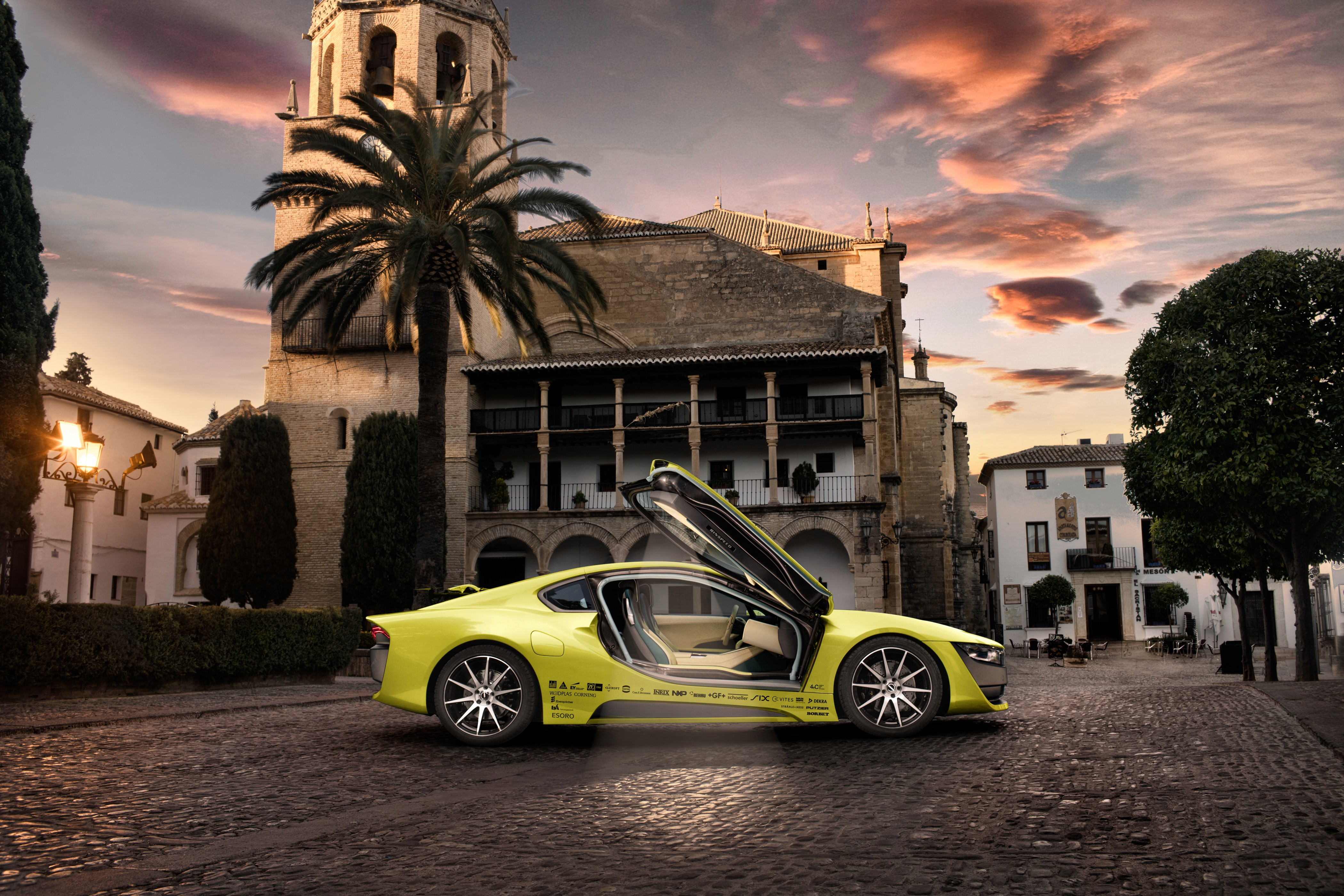 Wallpaper rinspeed etos ces 2016 electric car yellow for Wallpaper home 2016