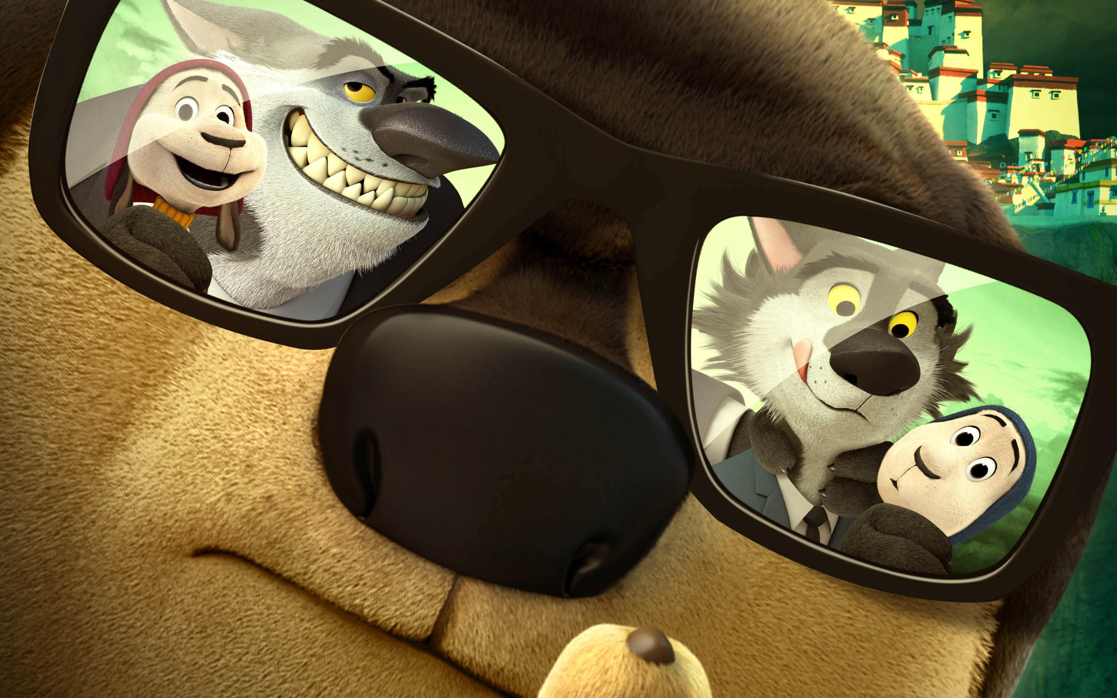 wallpaper rock dog  dog  glasses  best animations of 2016