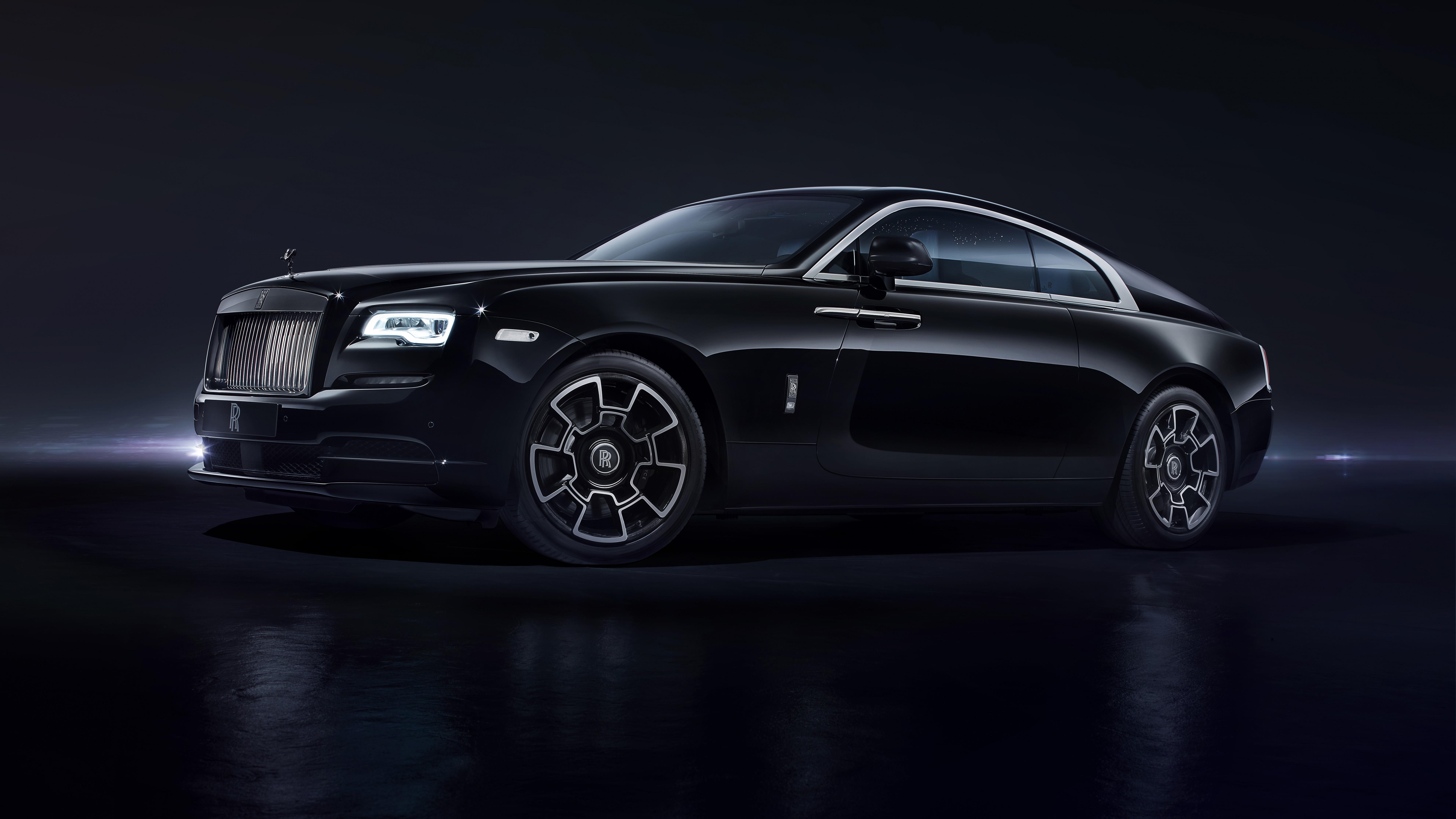 "Wallpaper Rolls-Royce Wraith ""Black Badge"", Geneva Auto ..."