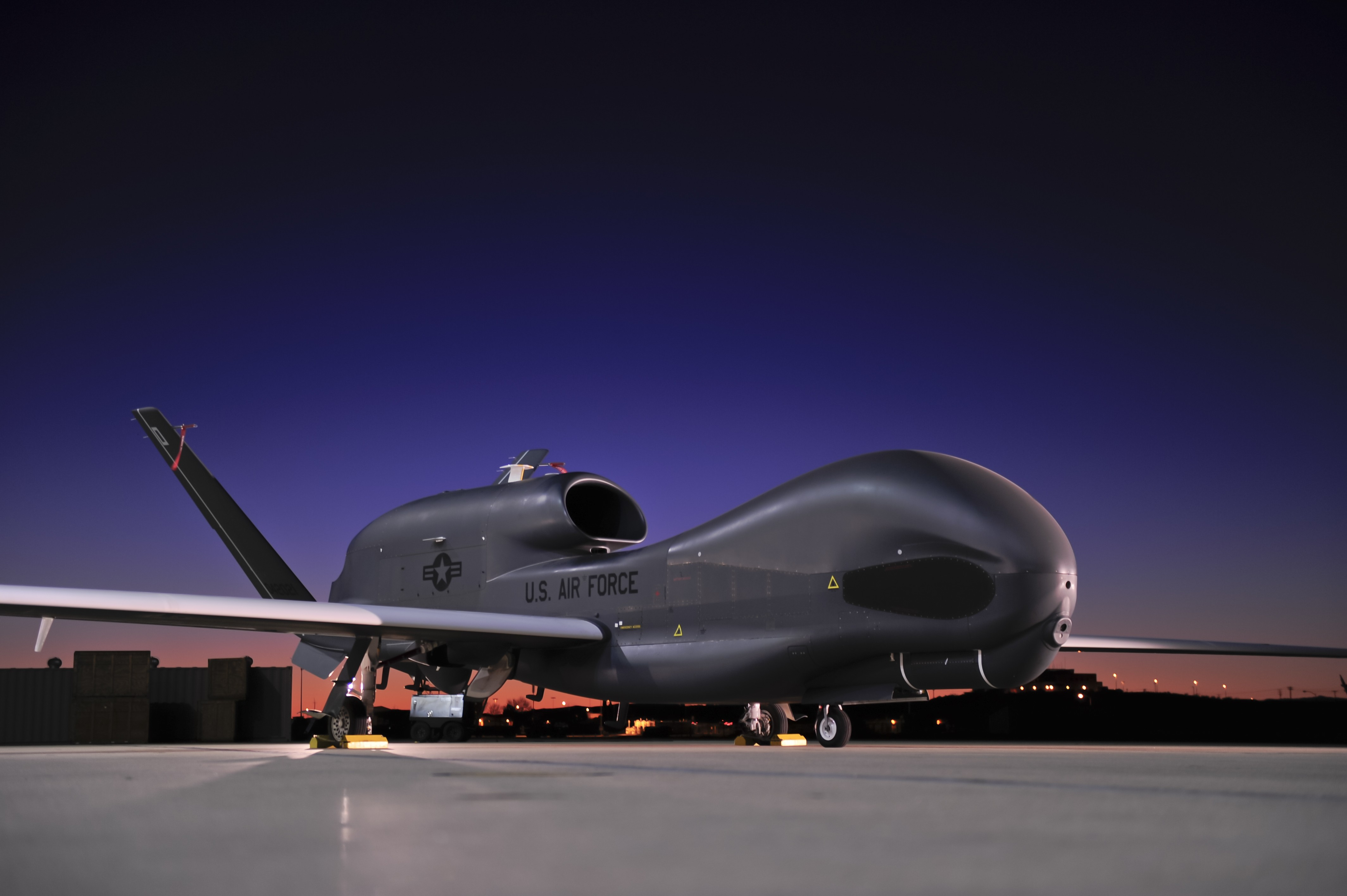size of a reaper drone with Rq 4 Global Hawk Northrop Grumman Drone Surveillance Uav 1423 on File 138th Attack Squadron   General Atomics MQ 9B Reaper 09 4066 furthermore File RQ 4 Global Hawk UAV 3 returns to US 2006 02 20 also Predator also 707539 further Cost Per Flight Hour Airplane.