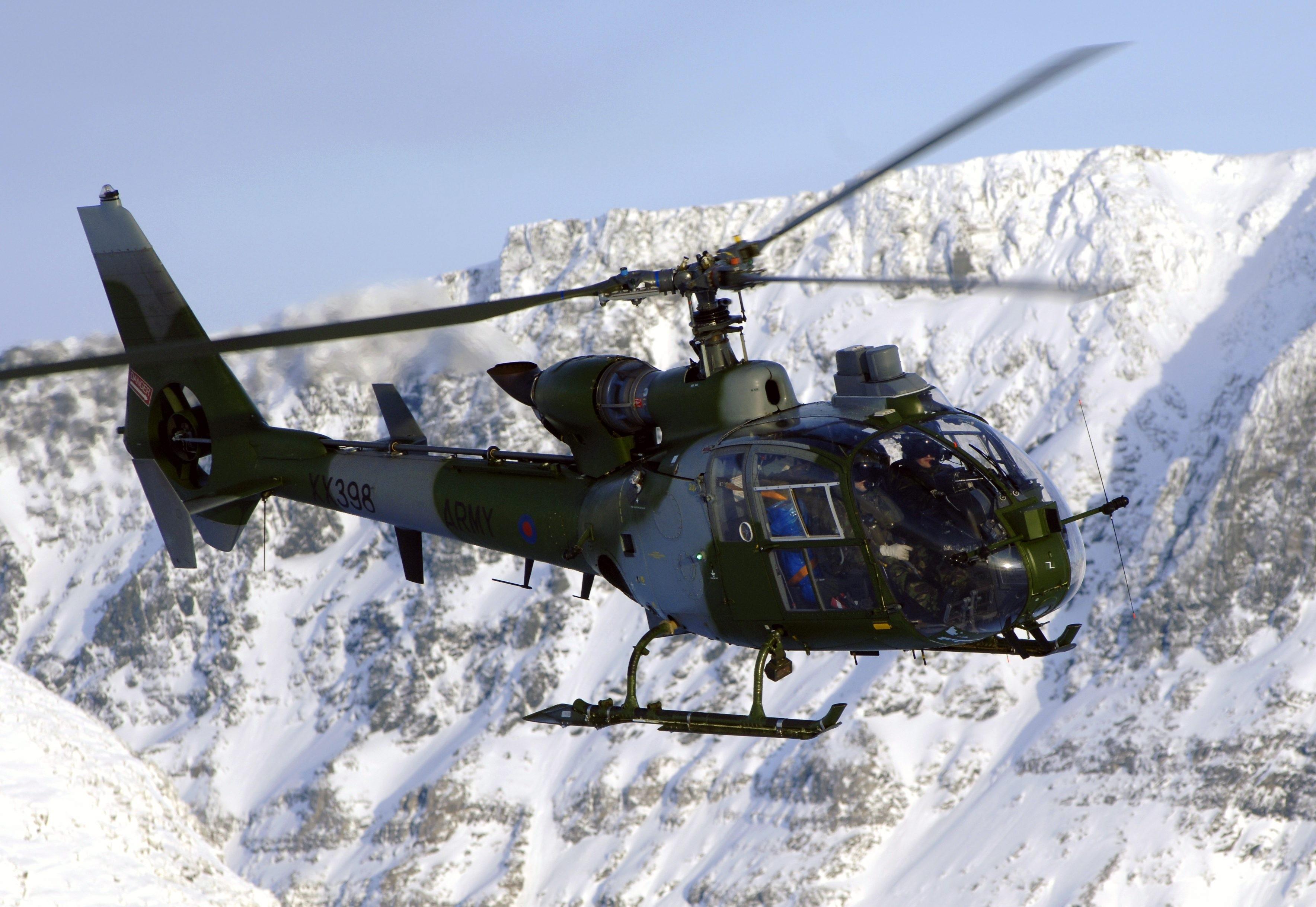 Wallpaper Sa 341 Sud Aviation Gazelle Helicopter France