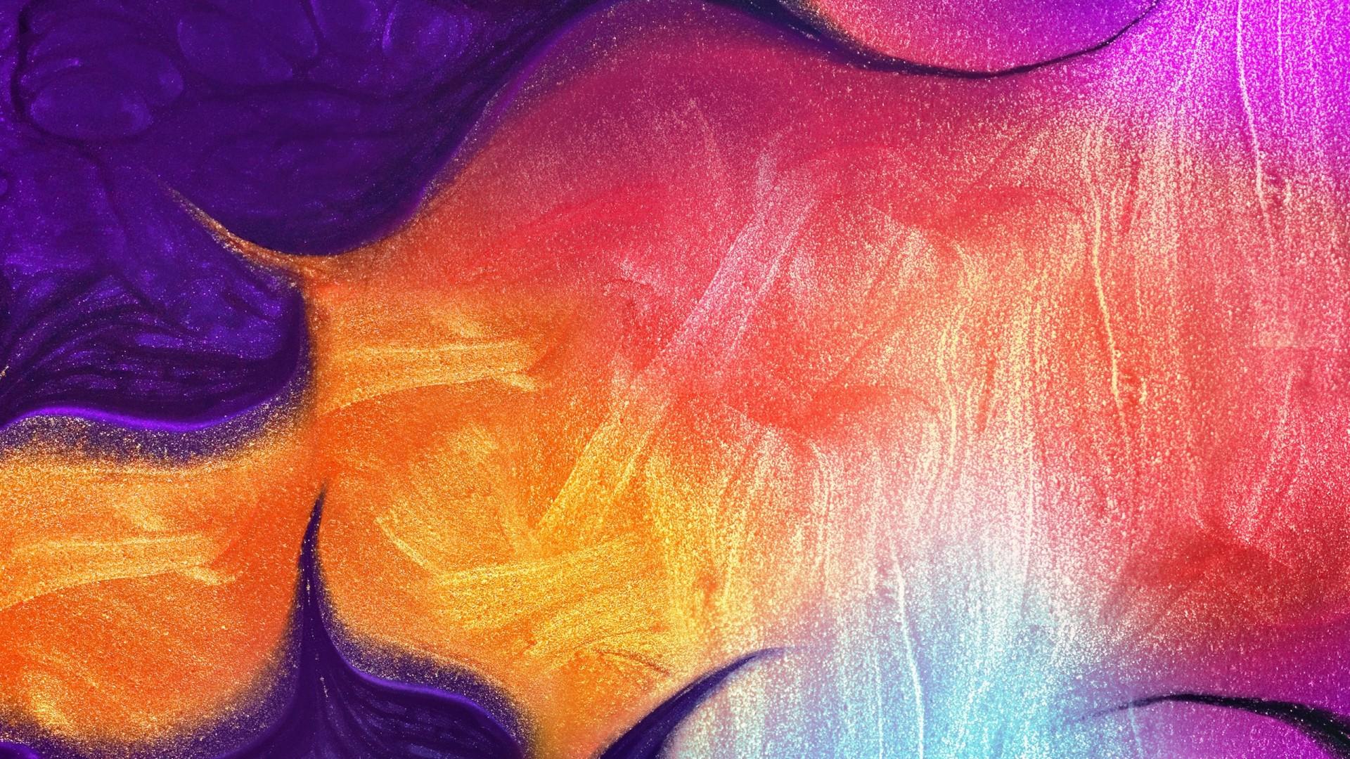 Wallpaper Samsung Galaxy A50 Abstract Colorful Hd Os 21451