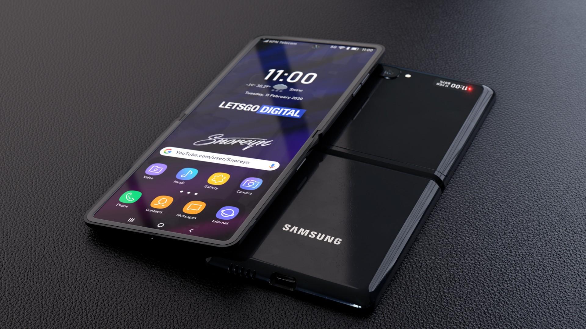 Wallpaper Samsung Galaxy Z Flip Foldable Smartphone 4k Hi Tech 22500