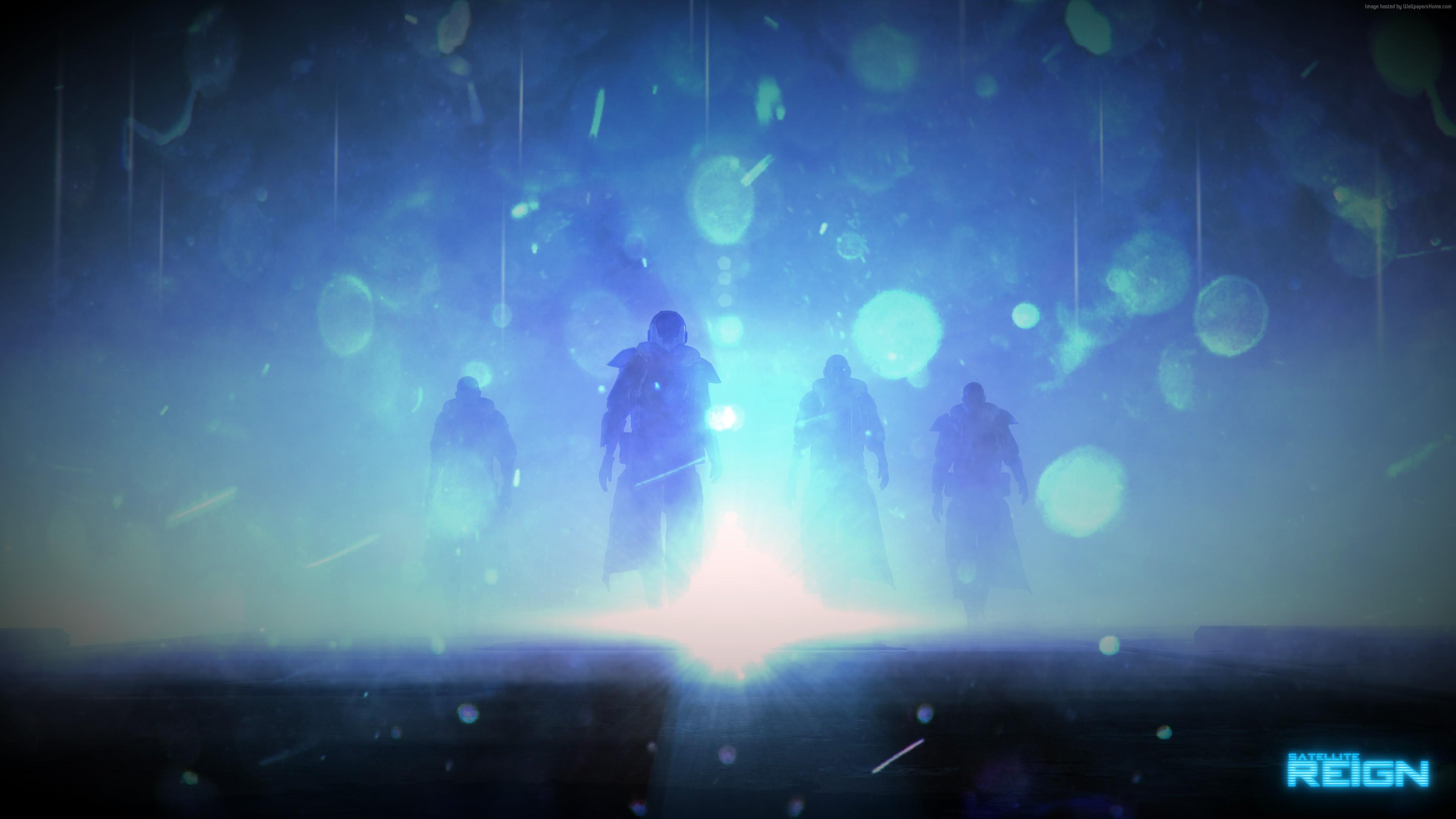 Wallpaper Satellite Reign Game Rpg Tactic Light Blue Bokeh