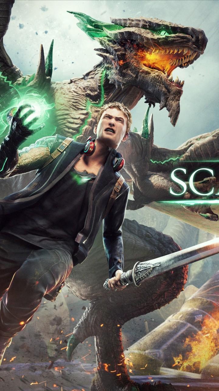 Wallpaper Scalebound Game Fantasy Archer Dragon Green