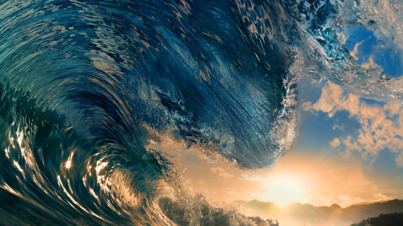wallpaper sea 5k 4k wallpaper ocean water wave sunset sky
